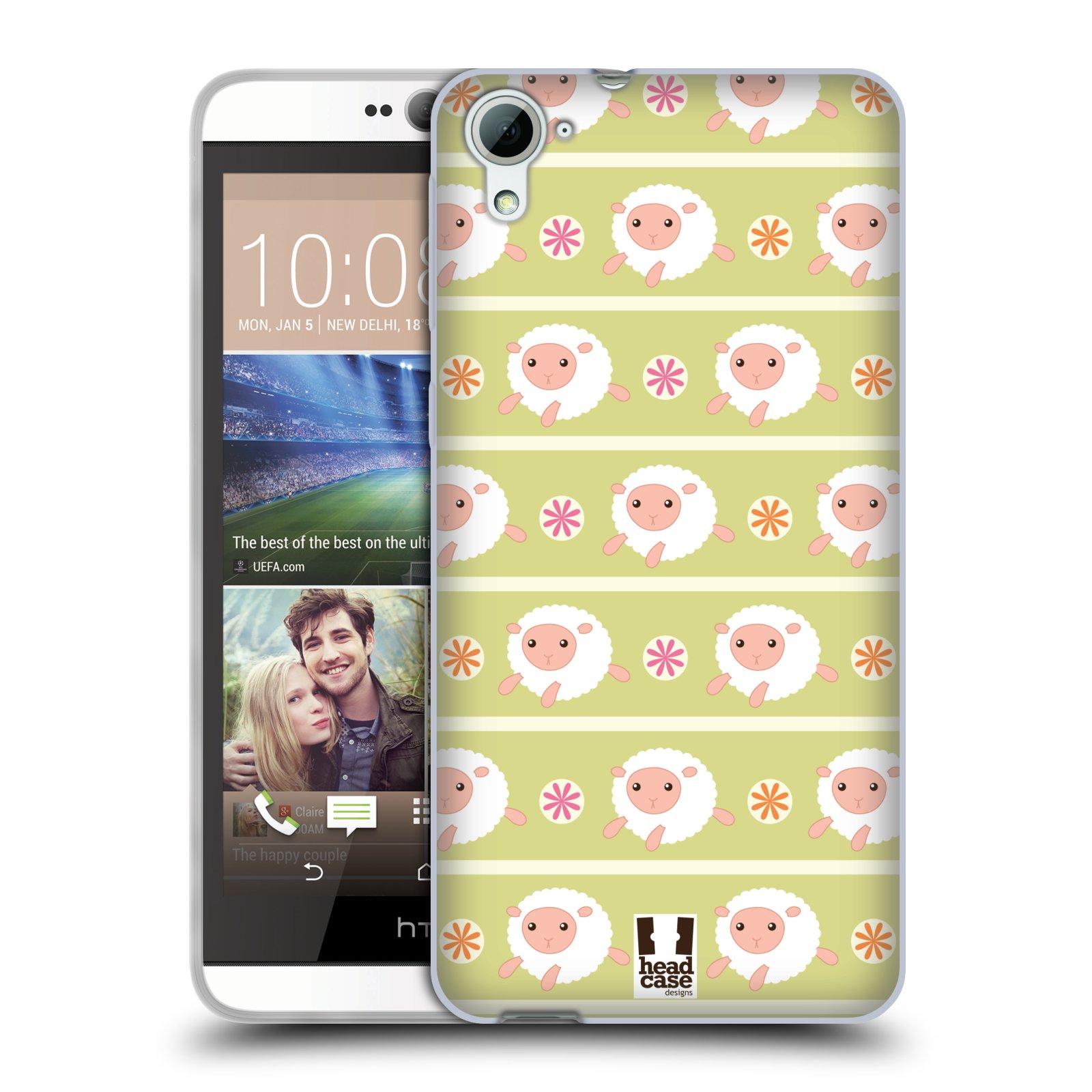 HEAD CASE silikonový obal na mobil HTC DESIRE 826 vzor roztomilé zvířecí vzory ovečky