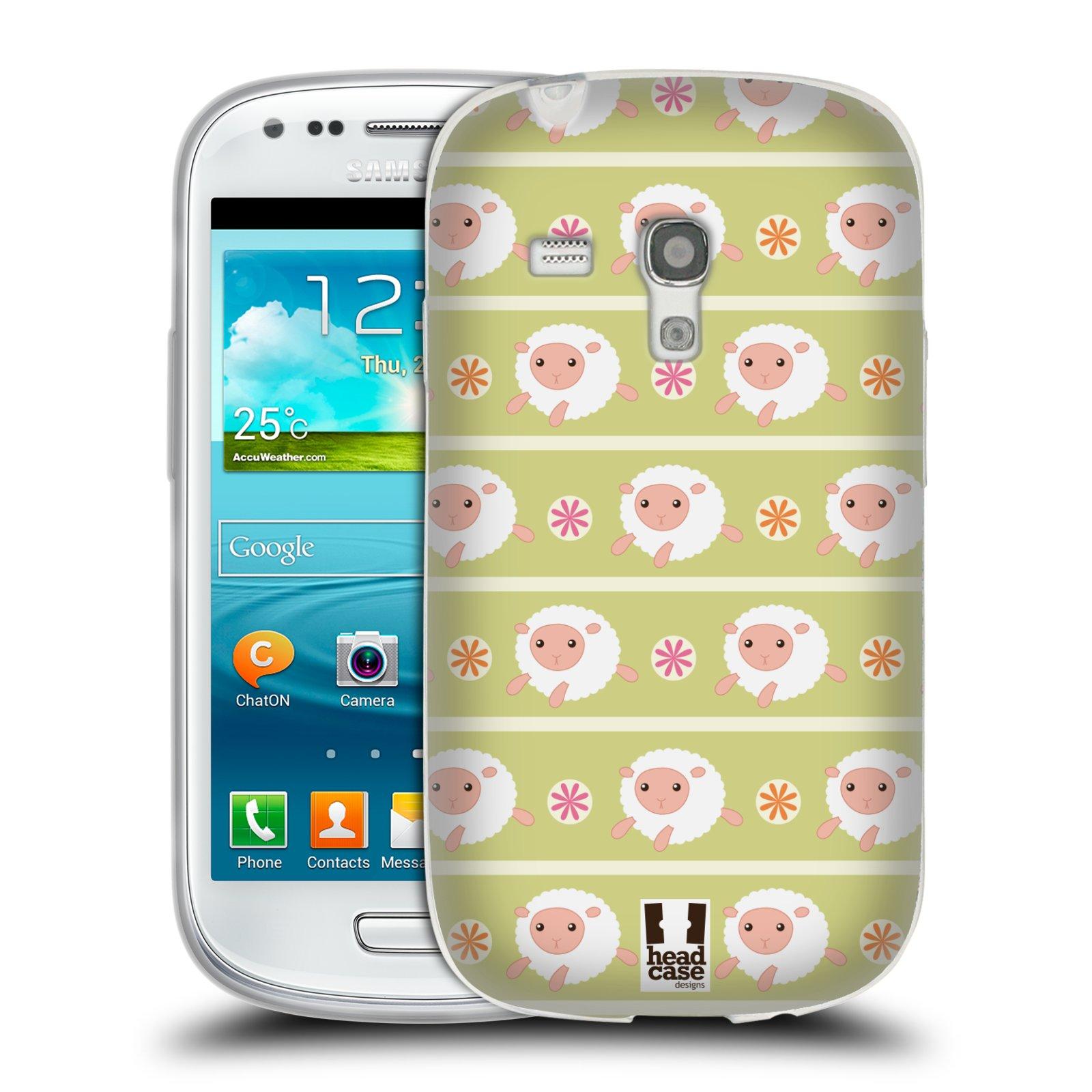 HEAD CASE silikonový obal na mobil Samsung Galaxy S3 MINI i8190 vzor roztomilé zvířecí vzory ovečky