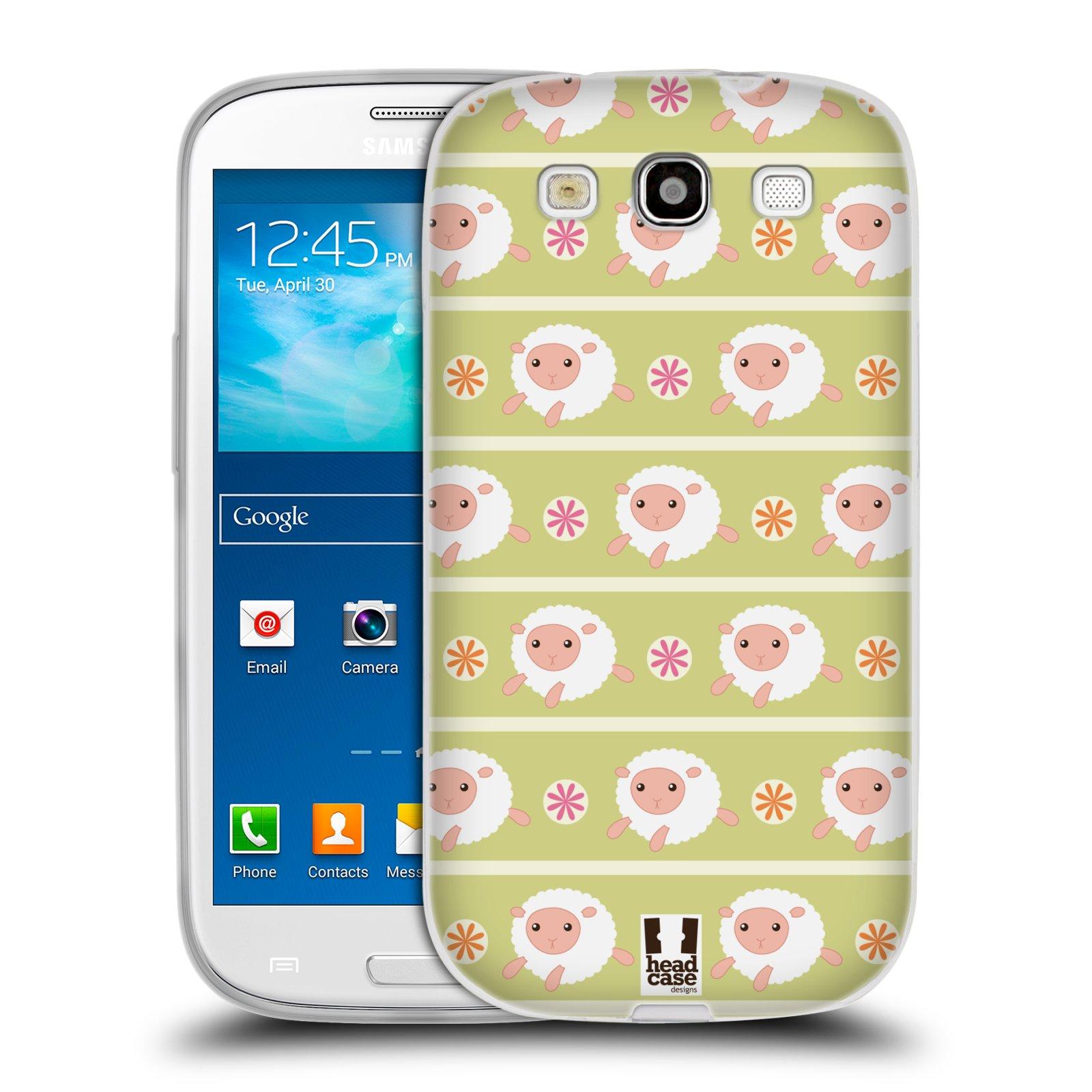 HEAD CASE silikonový obal na mobil Samsung Galaxy S3 i9300 vzor roztomilé zvířecí vzory ovečky