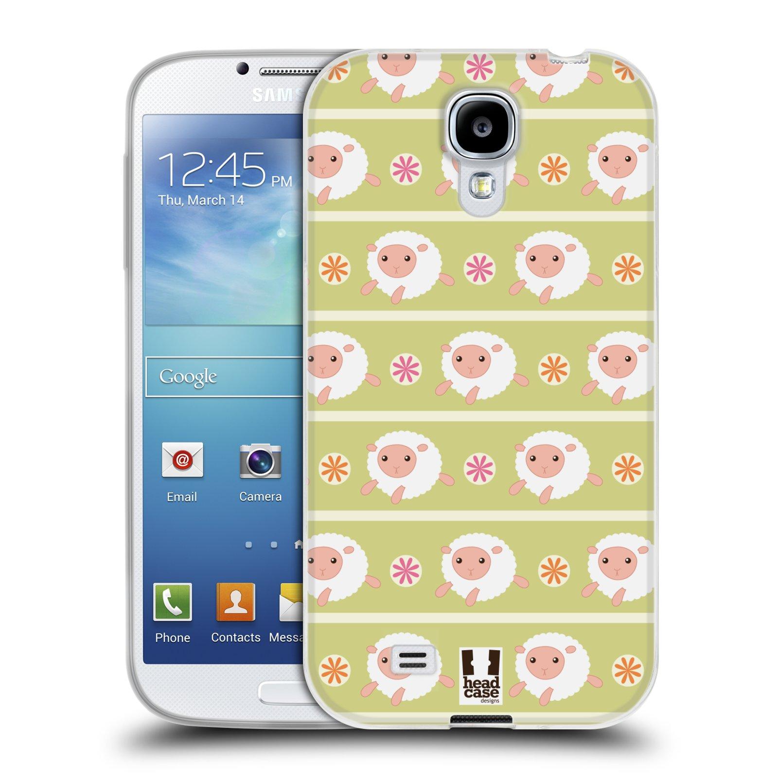 HEAD CASE silikonový obal na mobil Samsung Galaxy S4 i9500 vzor roztomilé zvířecí vzory ovečky