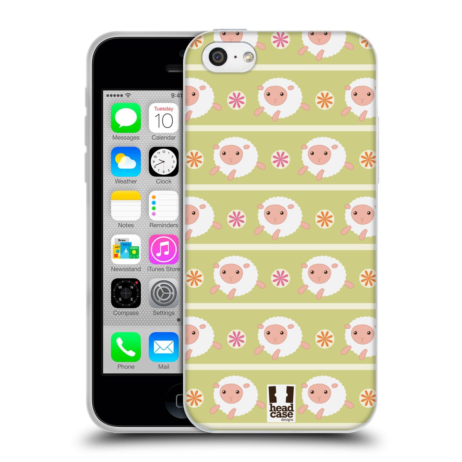HEAD CASE silikonový obal na mobil Apple Iphone 5C vzor roztomilé zvířecí vzory ovečky
