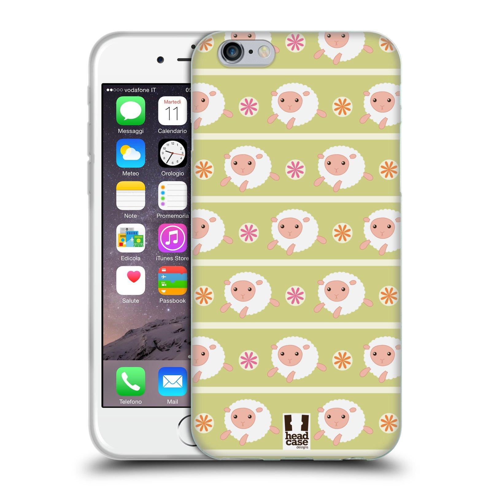 HEAD CASE silikonový obal na mobil Apple Iphone 6/6S vzor roztomilé zvířecí vzory ovečky