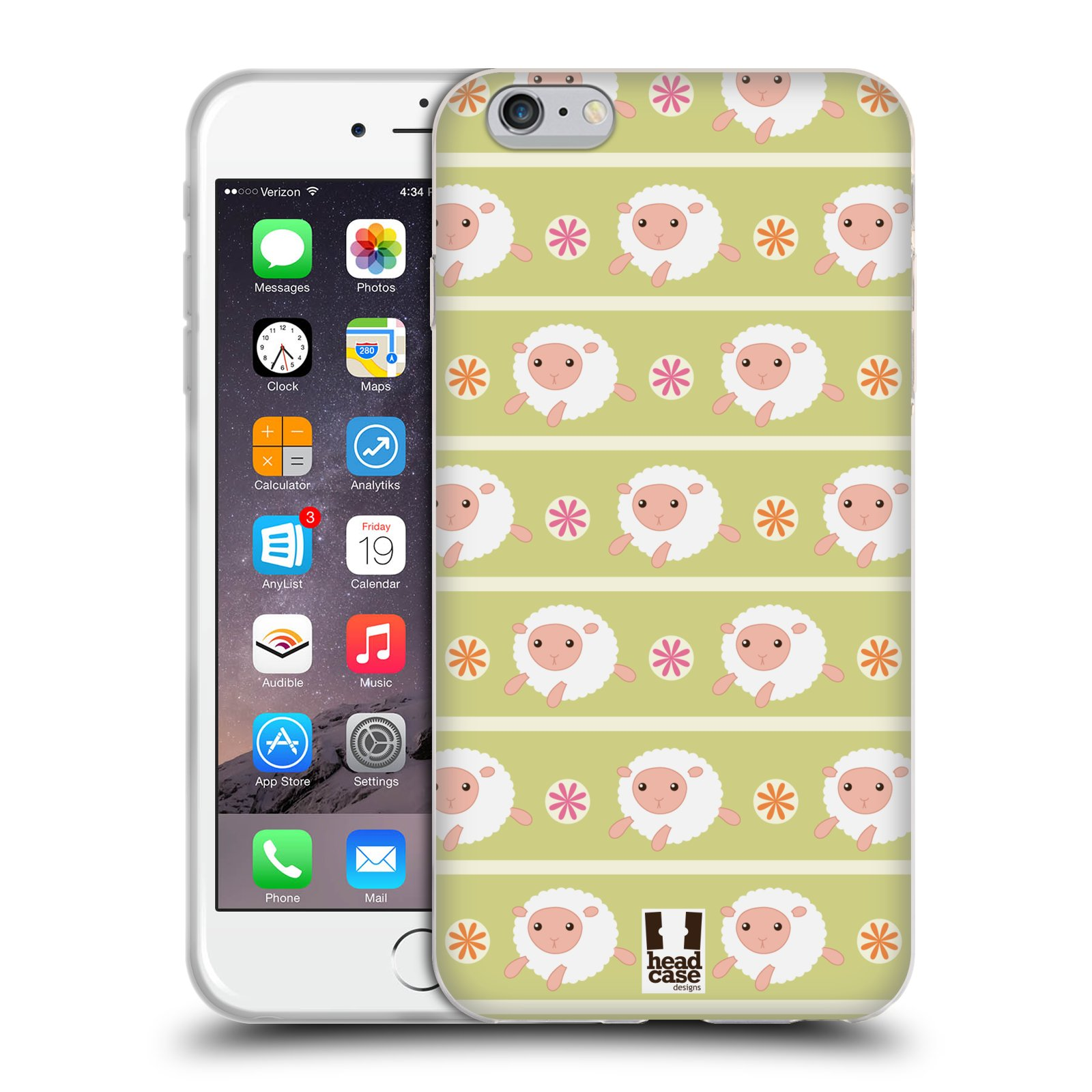 HEAD CASE silikonový obal na mobil Apple Iphone 6 PLUS/ 6S PLUS vzor roztomilé zvířecí vzory ovečky