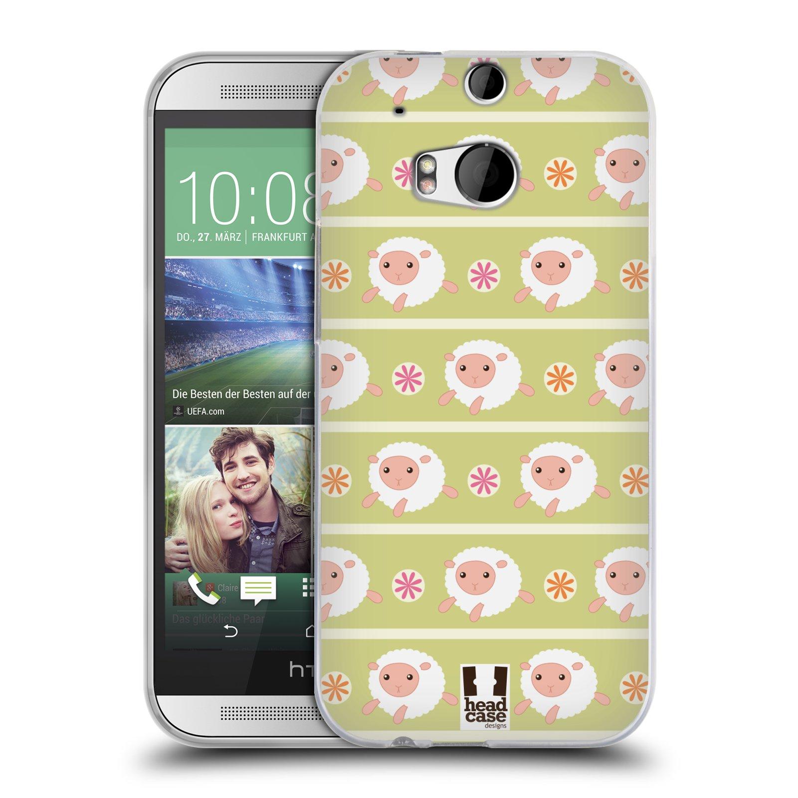 HEAD CASE silikonový obal na mobil HTC ONE (M8) vzor roztomilé zvířecí vzory ovečky