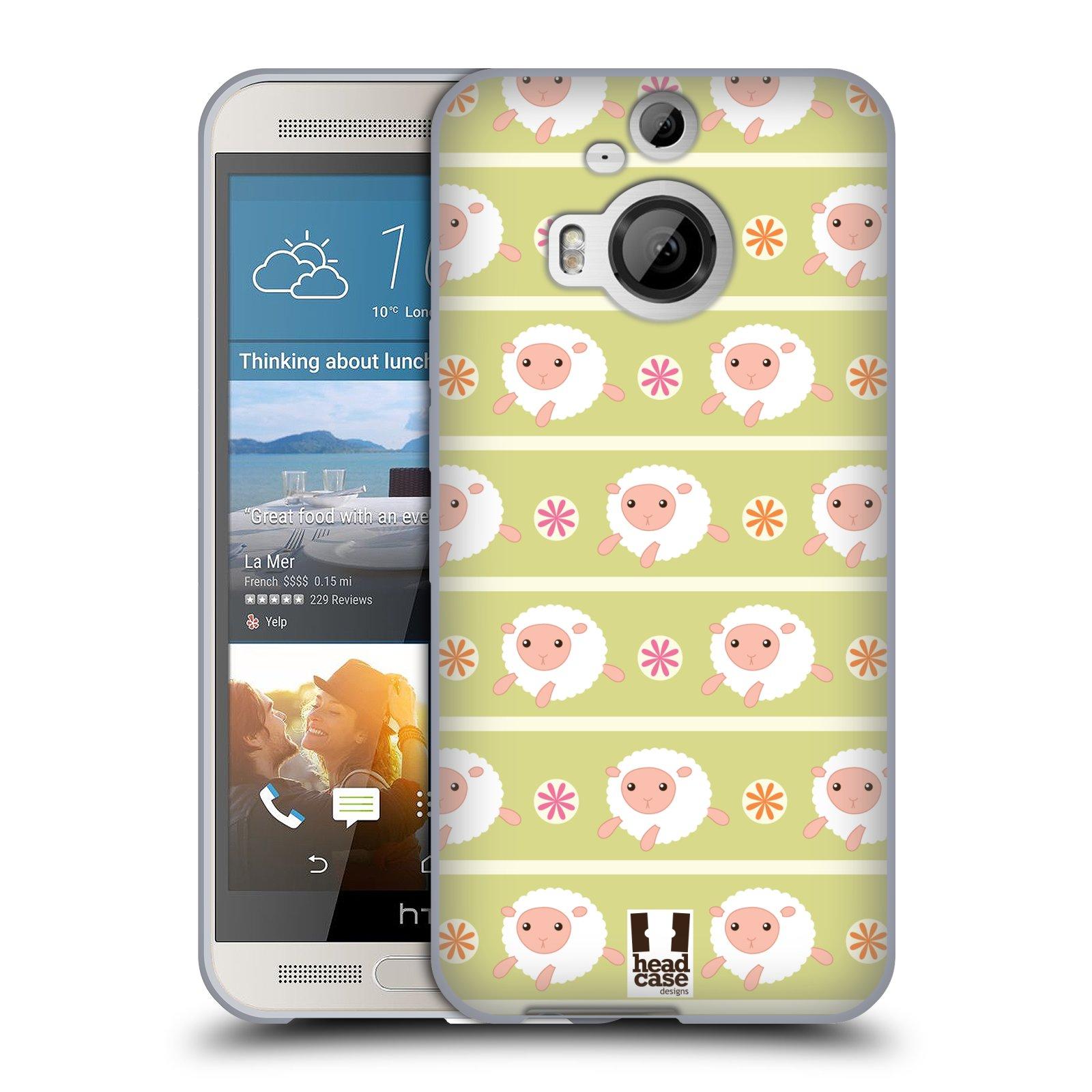 HEAD CASE silikonový obal na mobil HTC ONE M9+(PLUS) vzor roztomilé zvířecí vzory ovečky