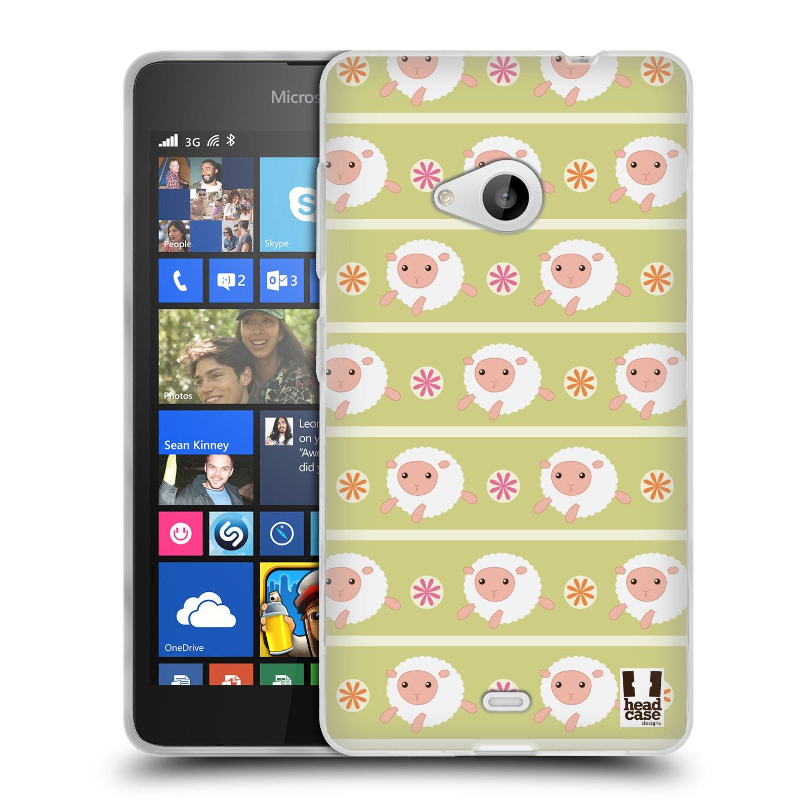 HEAD CASE silikonový obal na mobil Microsoft Lumia 535 / Lumia 535 DUAL vzor roztomilé zvířecí vzory ovečky