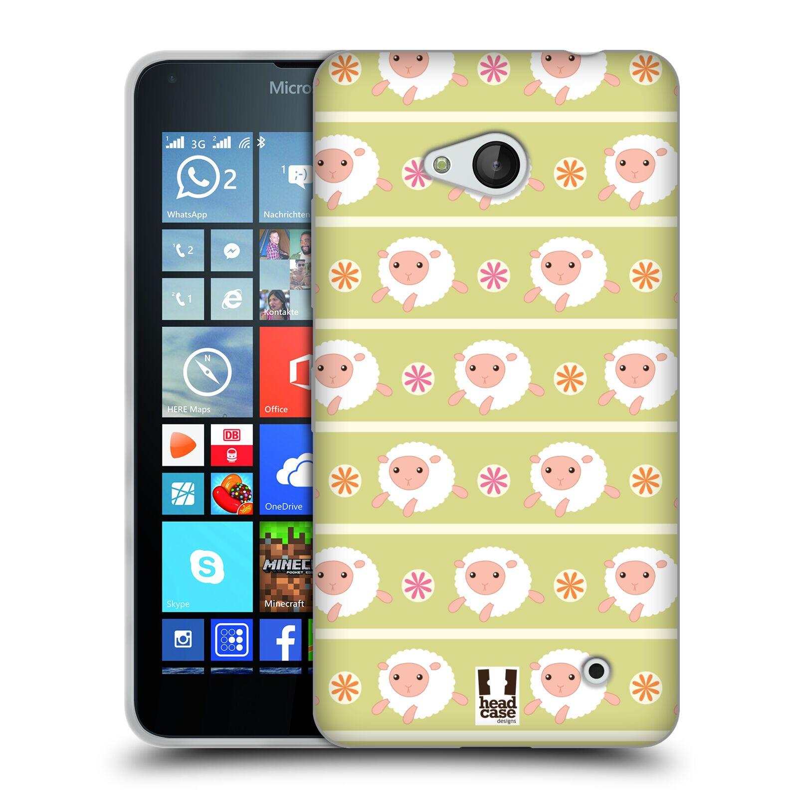 HEAD CASE silikonový obal na mobil Microsoft / Nokia Lumia 640 / Lumia 640 DUAL vzor roztomilé zvířecí vzory ovečky