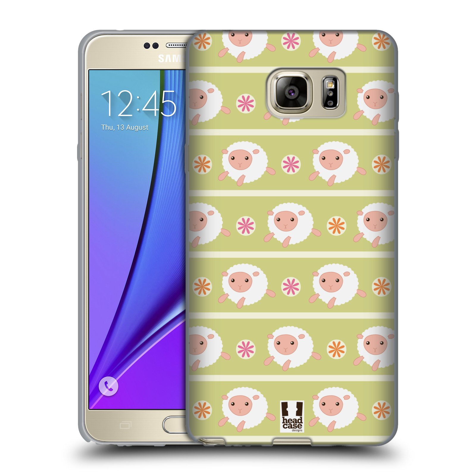 HEAD CASE silikonový obal na mobil Samsung Galaxy Note 5 (N920) vzor roztomilé zvířecí vzory ovečky