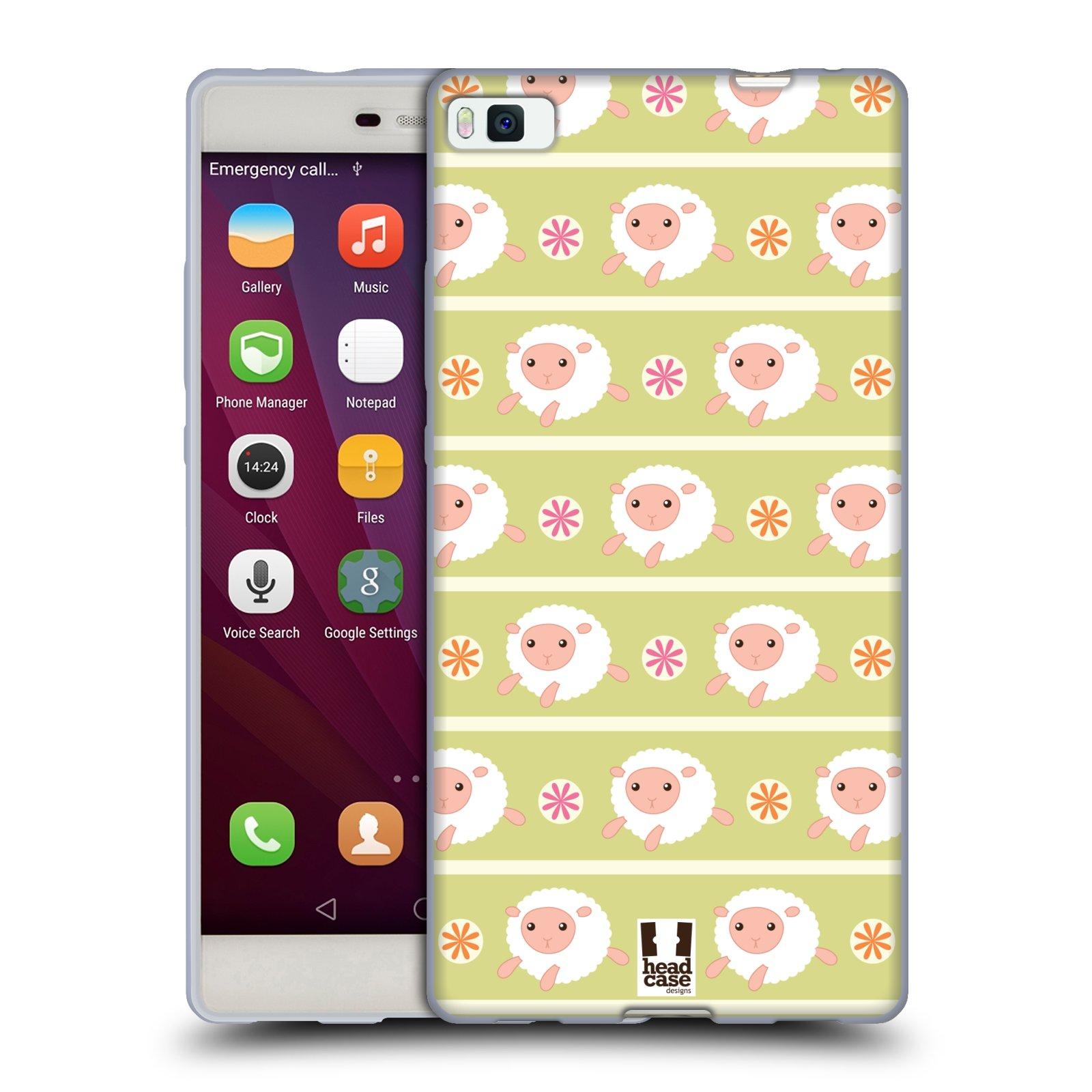 HEAD CASE silikonový obal na mobil HUAWEI P8 vzor roztomilé zvířecí vzory ovečky