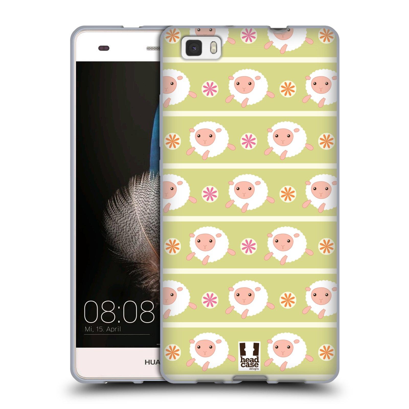 HEAD CASE silikonový obal na mobil HUAWEI P8 LITE vzor roztomilé zvířecí vzory ovečky