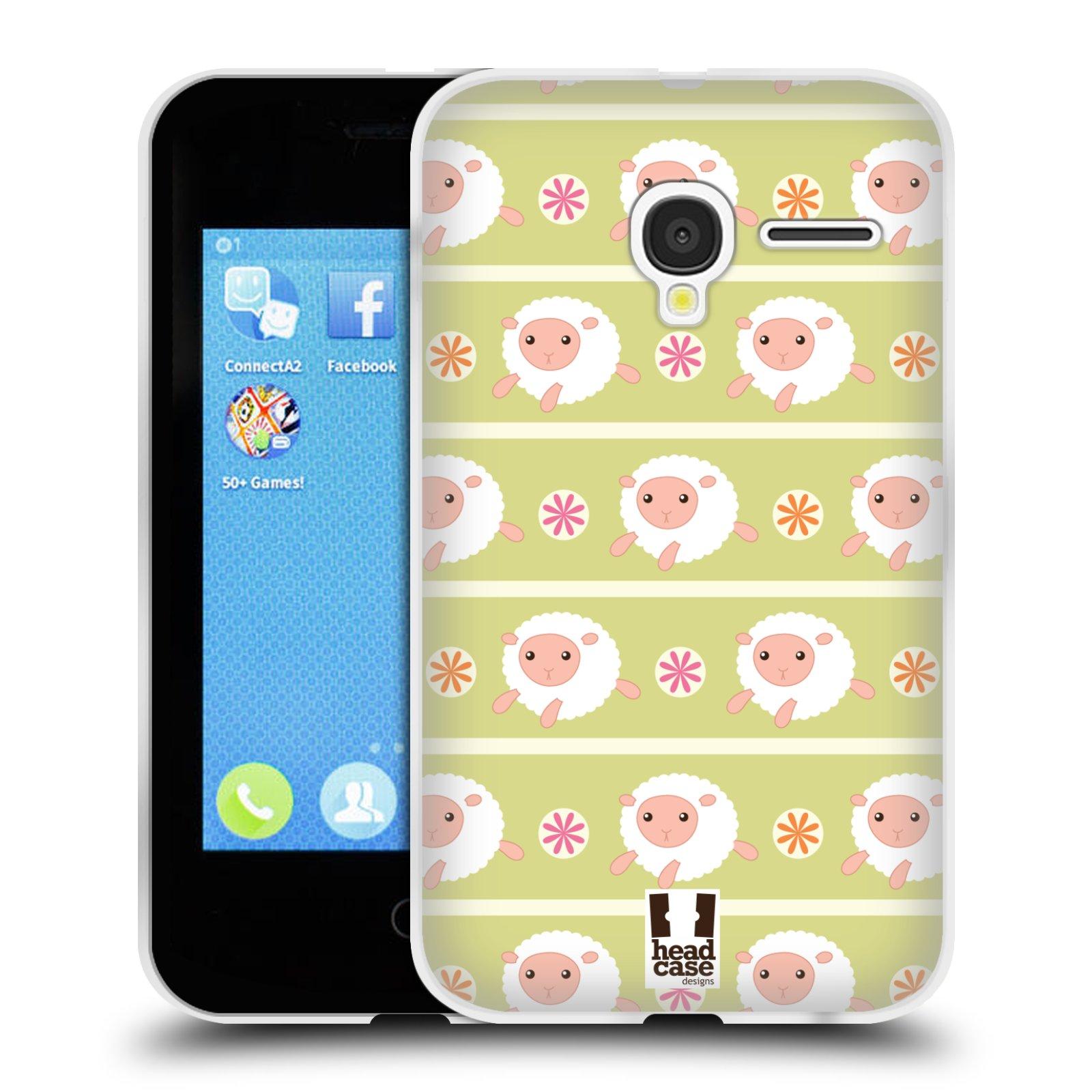 HEAD CASE silikonový obal na mobil Alcatel PIXI 3 OT-4022D (3,5 palcový displej) vzor roztomilé zvířecí vzory ovečky