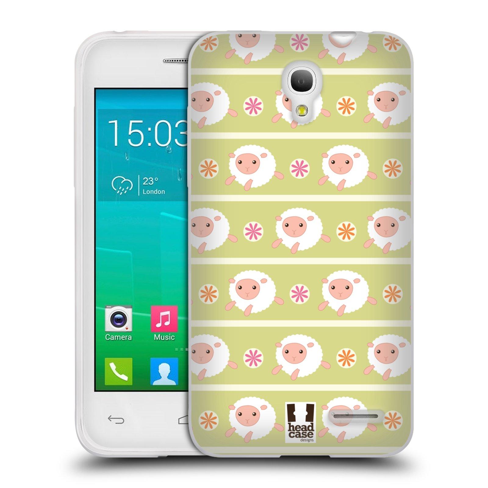 HEAD CASE silikonový obal na mobil Alcatel POP S3 OT-5050Y vzor roztomilé zvířecí vzory ovečky