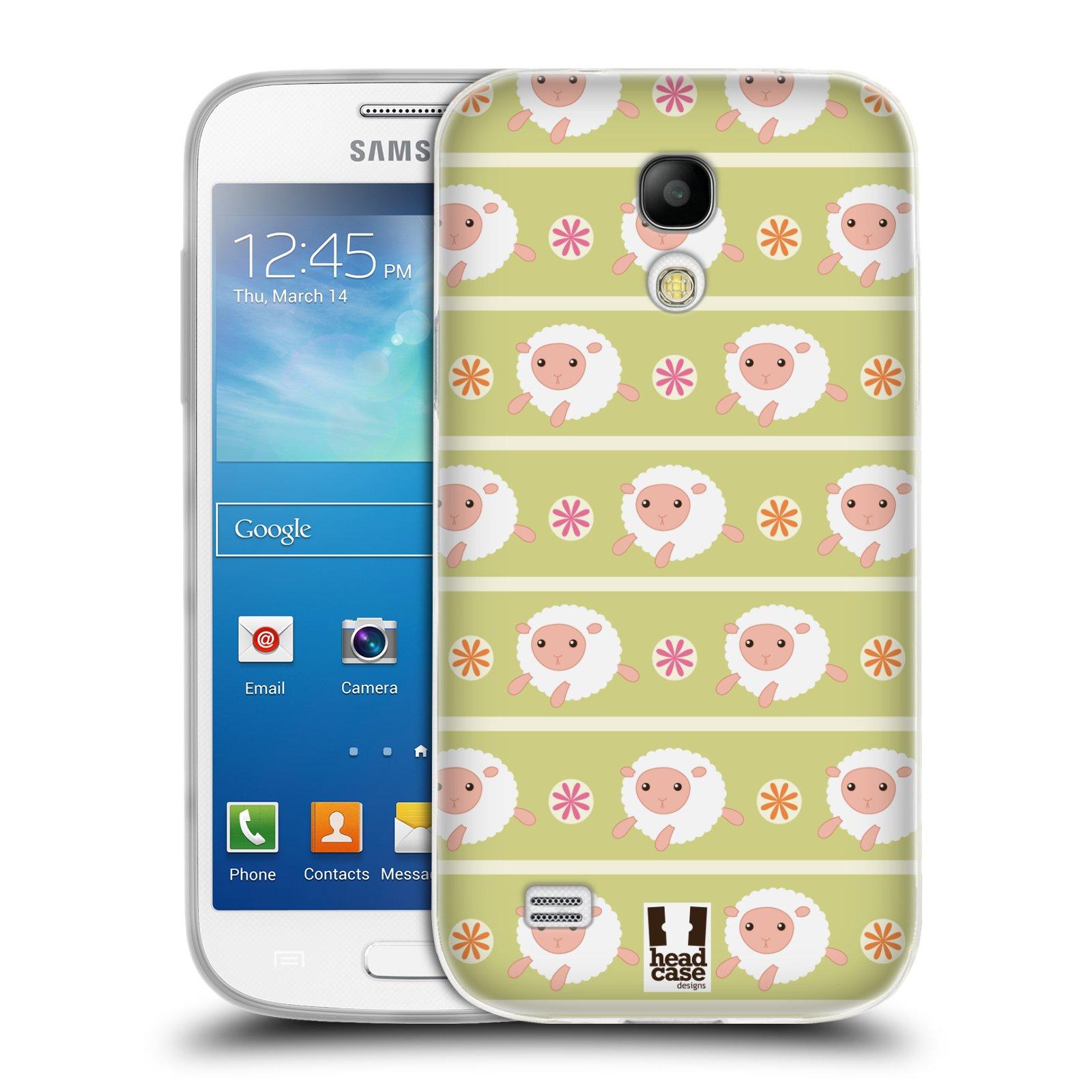 HEAD CASE silikonový obal na mobil Samsung Galaxy S4 MINI vzor roztomilé zvířecí vzory ovečky