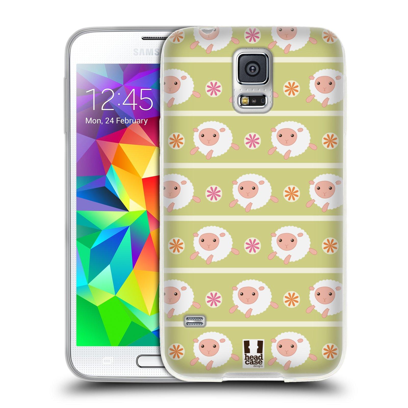 HEAD CASE silikonový obal na mobil Samsung Galaxy S5/S5 NEO vzor roztomilé zvířecí vzory ovečky