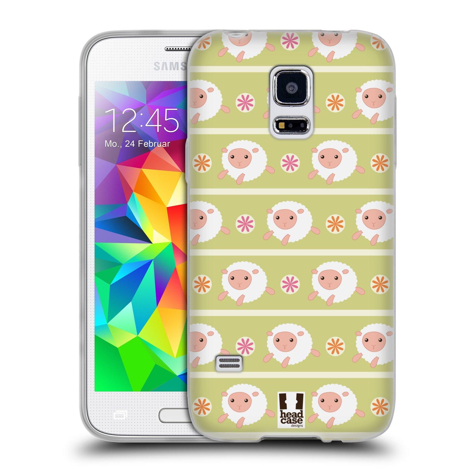 HEAD CASE silikonový obal na mobil Samsung Galaxy S5 MINI vzor roztomilé zvířecí vzory ovečky