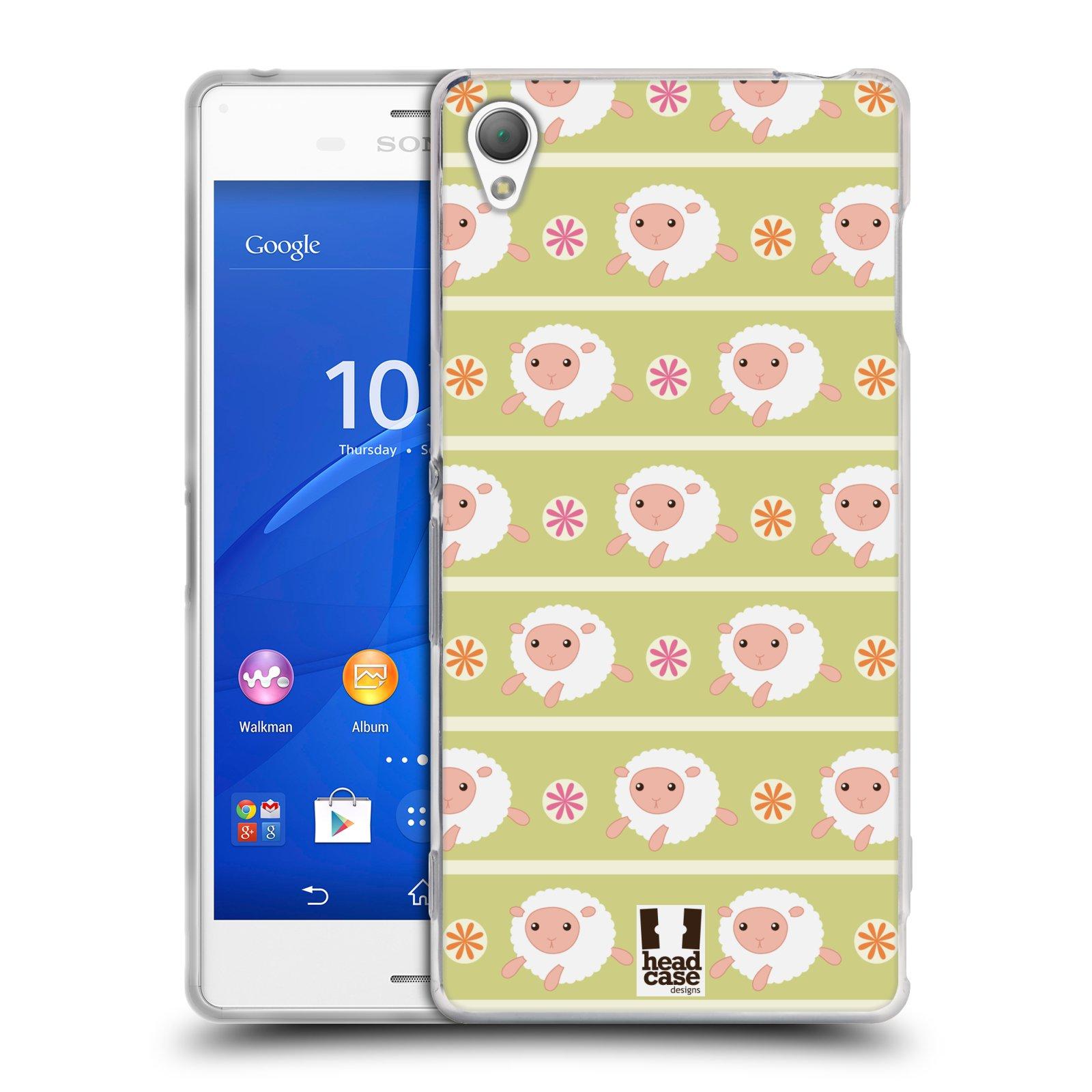 HEAD CASE silikonový obal na mobil Sony Xperia Z3 vzor roztomilé zvířecí vzory ovečky