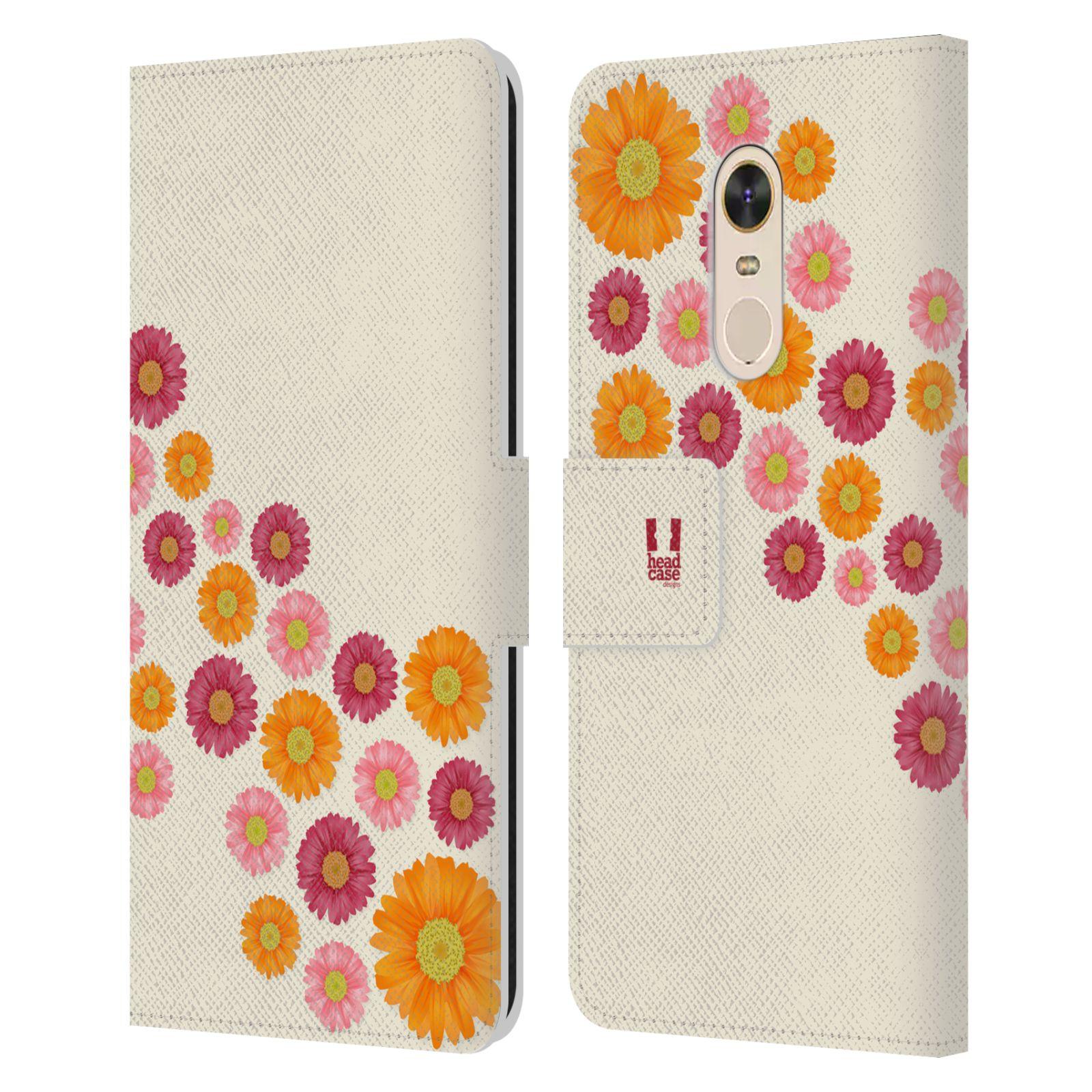 HEAD CASE Flipové pouzdro pro mobil Xiaomi Redmi Note 5 květina sedmikráska MIX