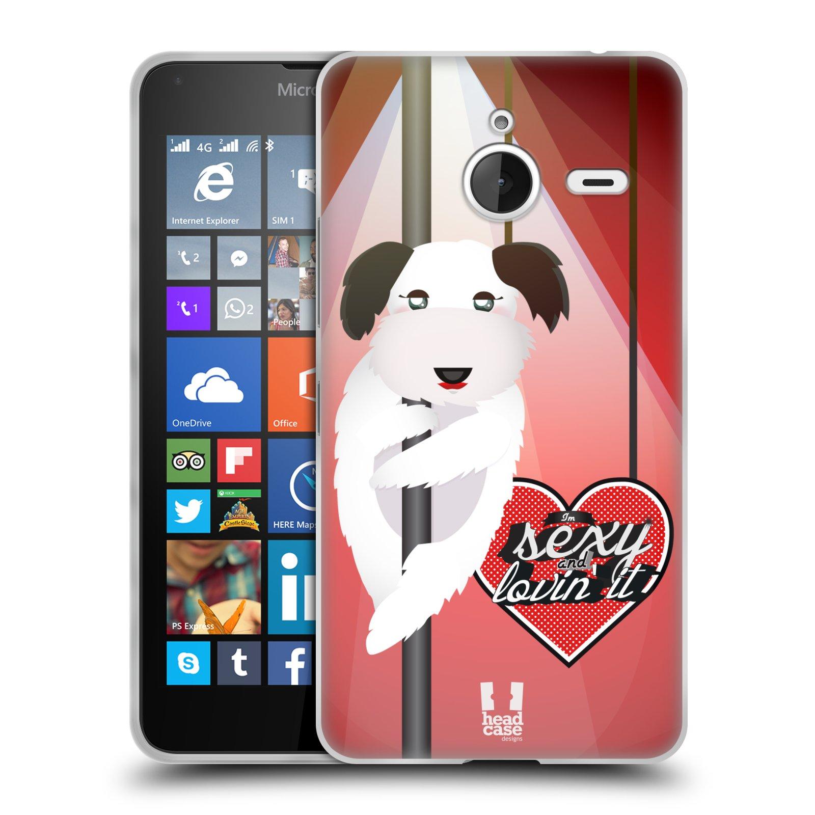 HEAD CASE silikonový obal na mobil Microsoft Lumia 640 XL / Lumia 640 XL DUAL vzor tančící zvířátka pejsek
