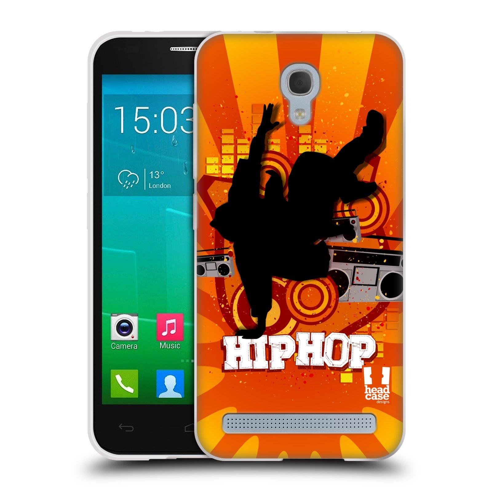 HEAD CASE silikonový obal na mobil Alcatel Idol 2 MINI S 6036Y vzor TANEC SILUETA HIP HOP