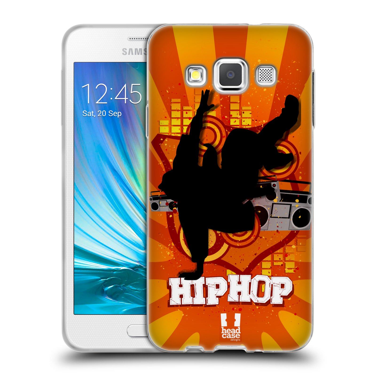 HEAD CASE silikonový obal na mobil Samsung Galaxy A3 vzor TANEC SILUETA HIP HOP