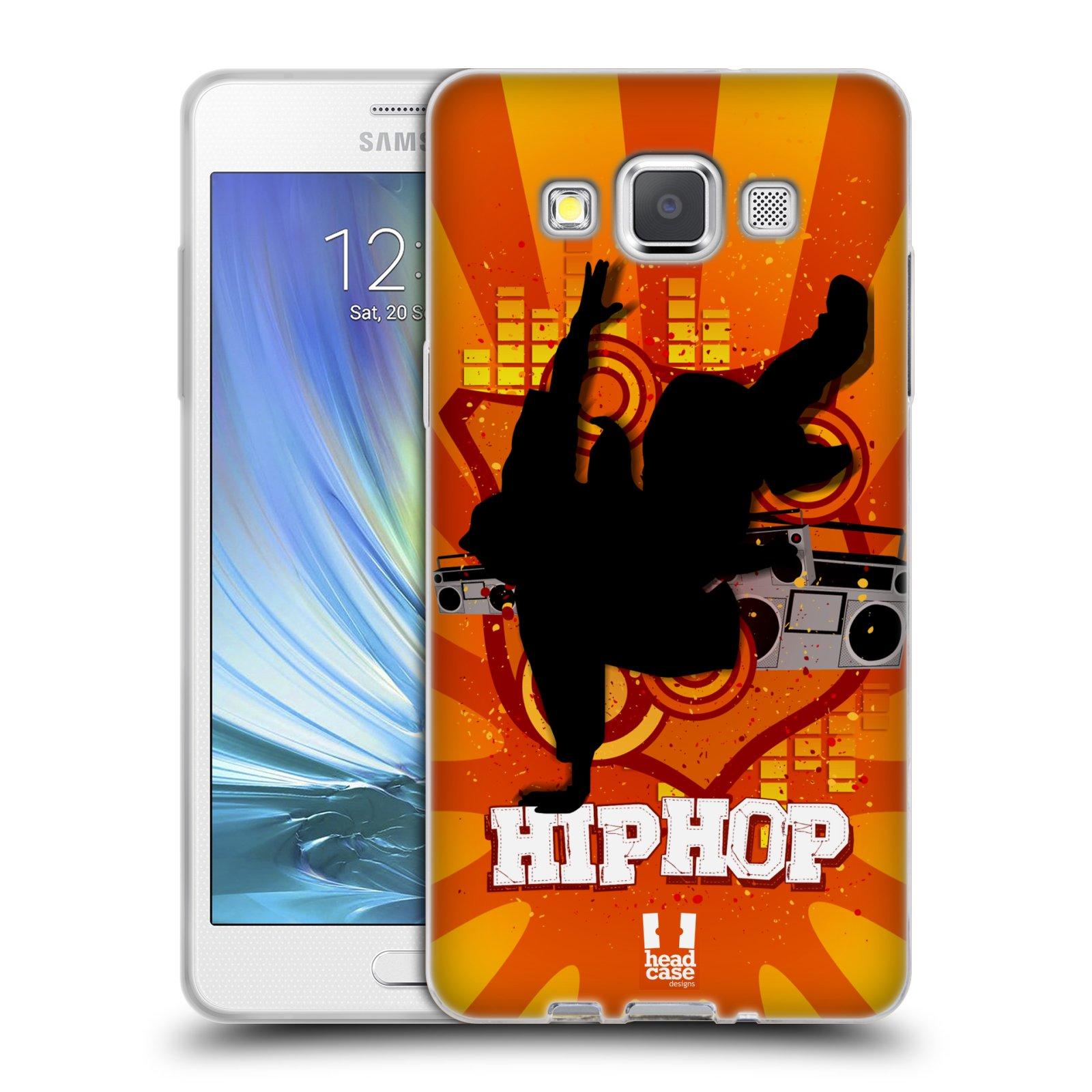 HEAD CASE silikonový obal na mobil Samsung Galaxy A5 vzor TANEC SILUETA HIP HOP