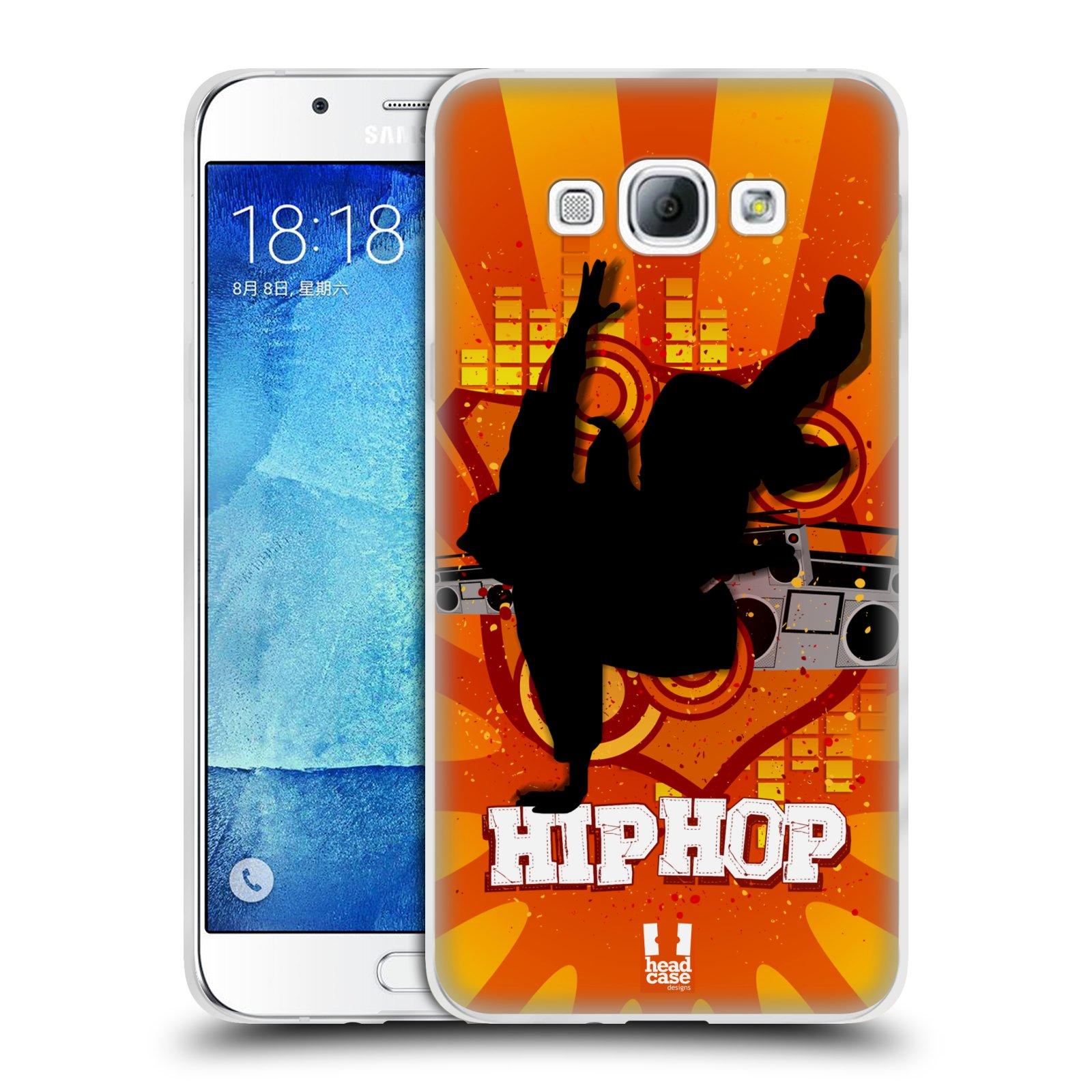 HEAD CASE silikonový obal na mobil Samsung Galaxy A8 vzor TANEC SILUETA HIP HOP