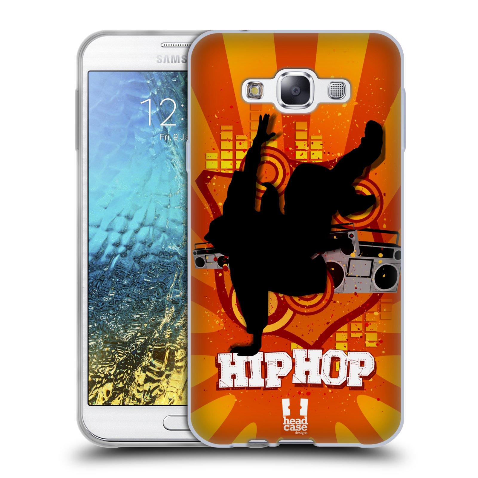HEAD CASE silikonový obal na mobil Samsung Galaxy E7 vzor TANEC SILUETA HIP HOP