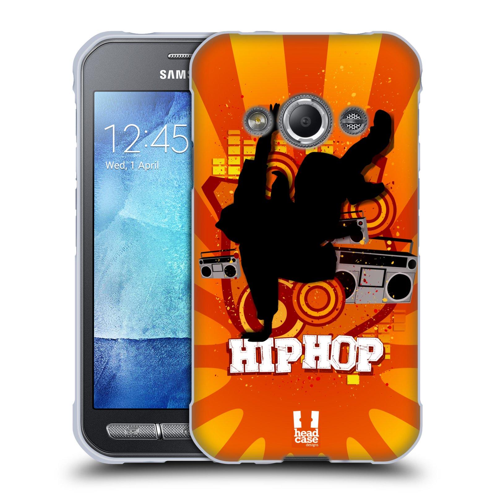 HEAD CASE silikonový obal na mobil Samsung Galaxy Xcover 3 vzor TANEC SILUETA HIP HOP