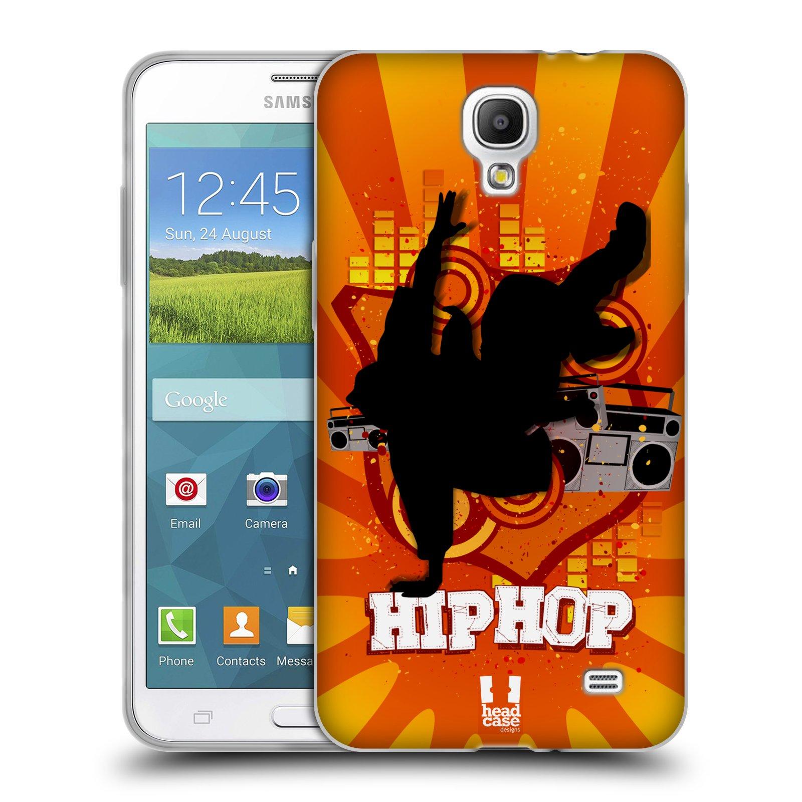 HEAD CASE silikonový obal na mobil Samsung Galaxy Mega 2 vzor TANEC SILUETA HIP HOP