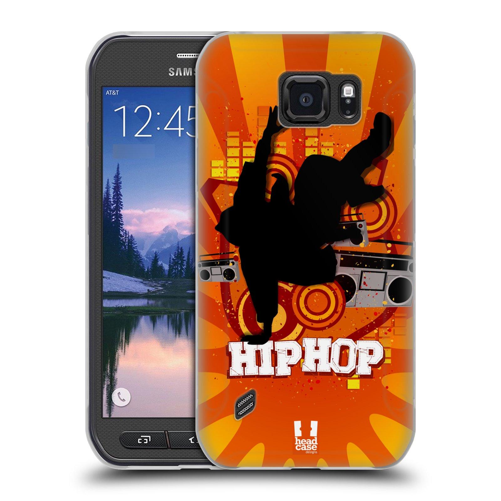 HEAD CASE silikonový obal na mobil Samsung Galaxy S6 ACTIVE vzor TANEC SILUETA HIP HOP