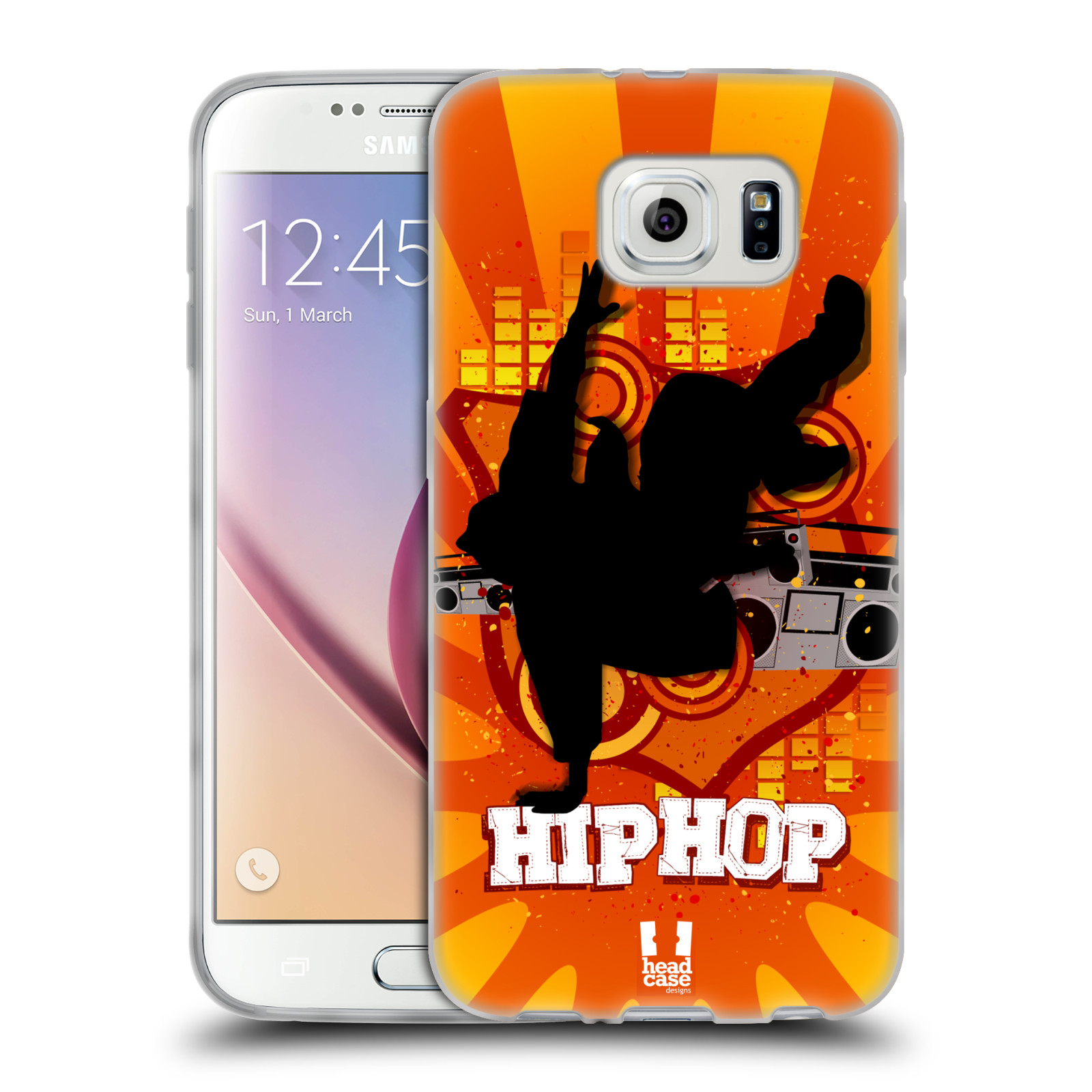 HEAD CASE silikonový obal na mobil Samsung Galaxy S6 vzor TANEC SILUETA HIP HOP