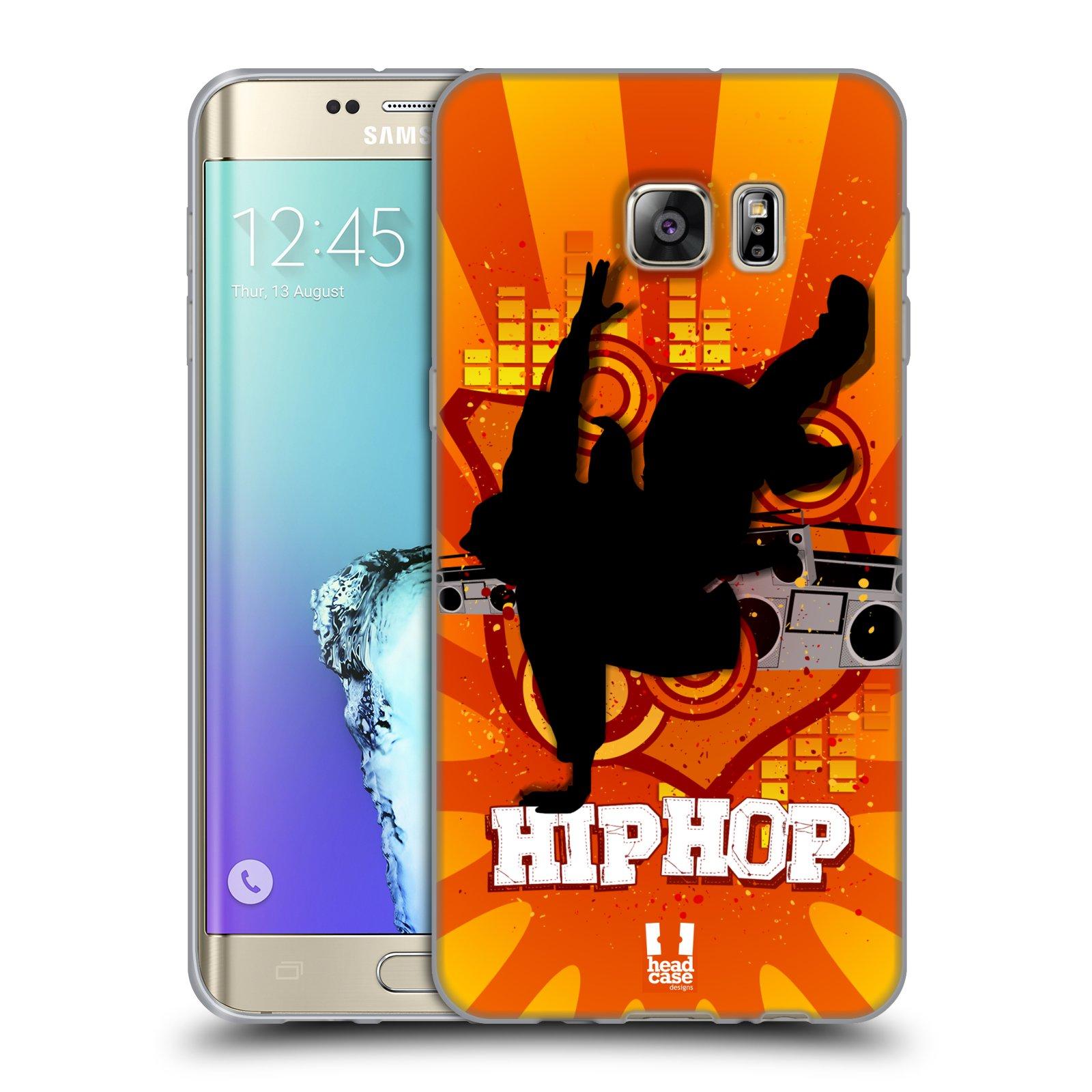 HEAD CASE silikonový obal na mobil Samsung Galaxy S6 EDGE PLUS vzor TANEC SILUETA HIP HOP