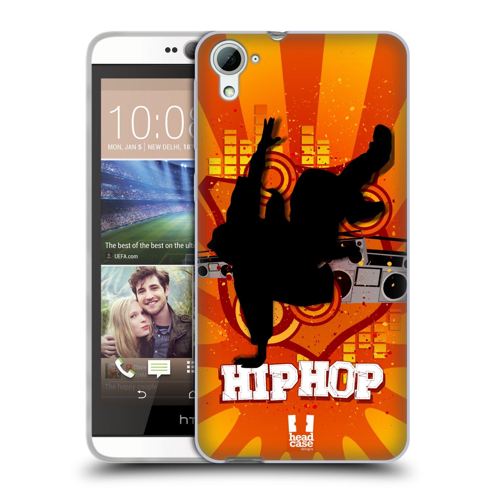 HEAD CASE silikonový obal na mobil HTC DESIRE 826 vzor TANEC SILUETA HIP HOP