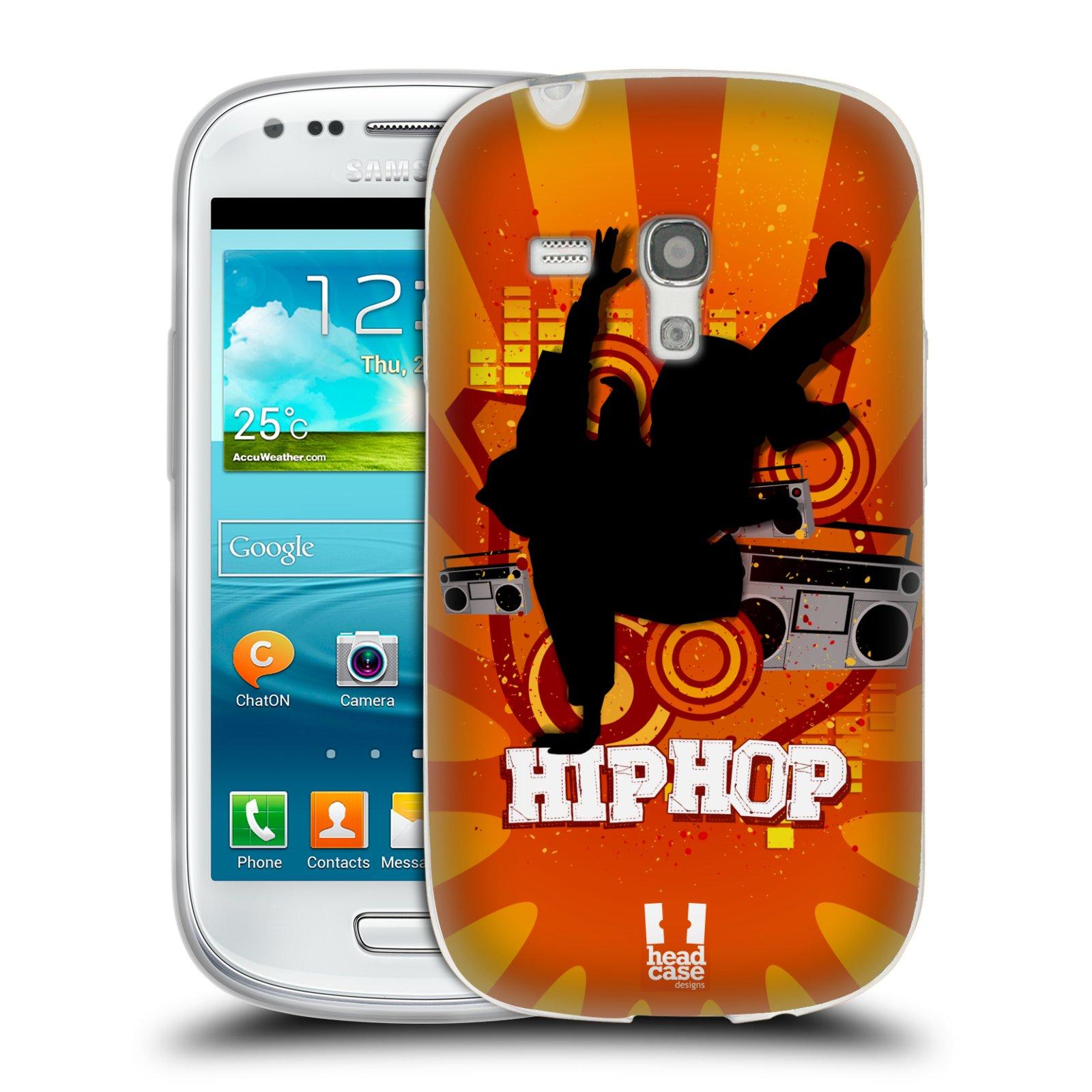 HEAD CASE silikonový obal na mobil Samsung Galaxy S3 MINI i8190 vzor TANEC SILUETA HIP HOP