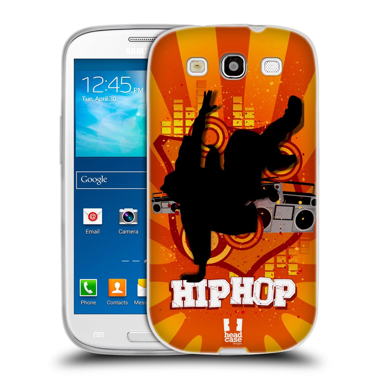 HEAD CASE silikonový obal na mobil Samsung Galaxy S3 i9300 vzor TANEC SILUETA HIP HOP