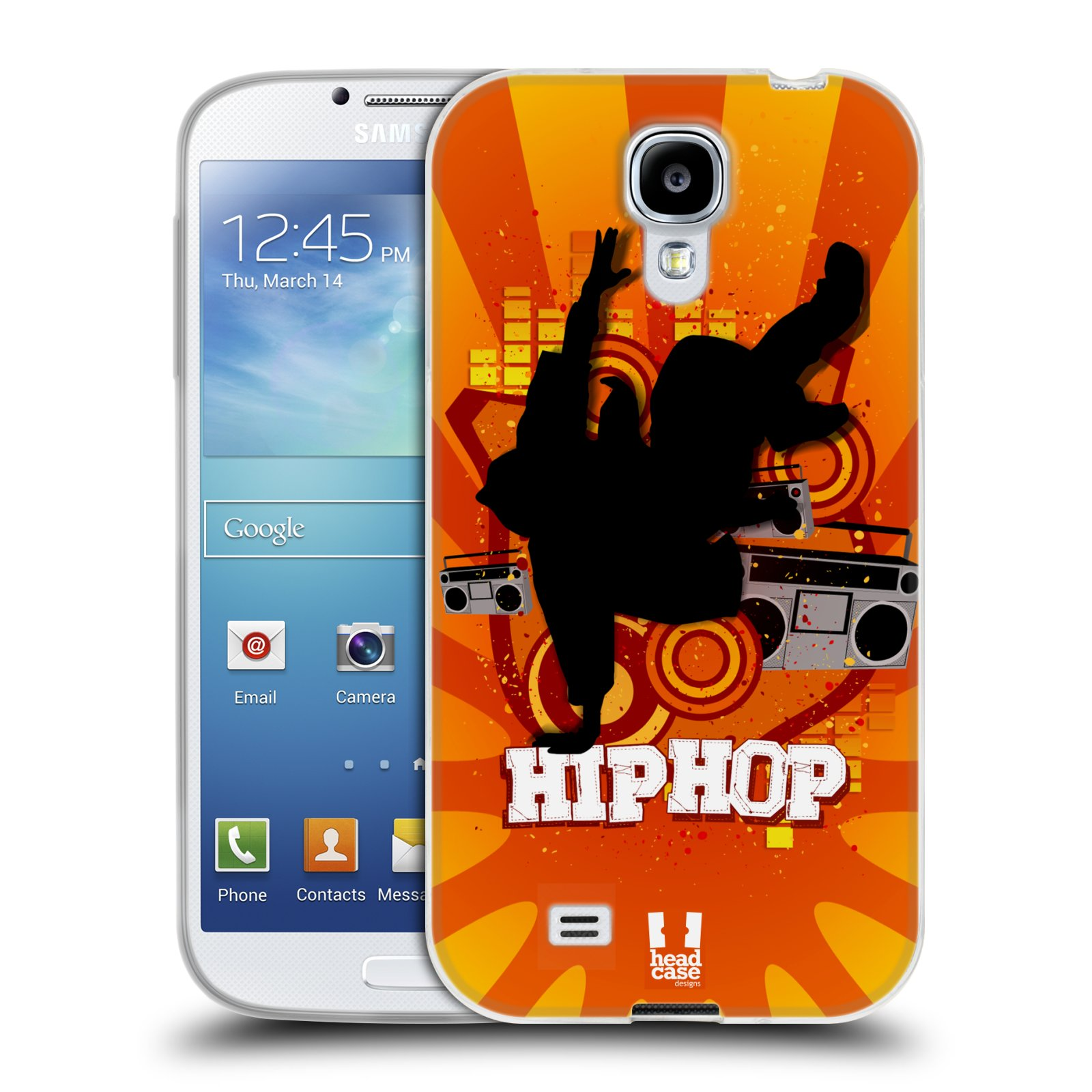 HEAD CASE silikonový obal na mobil Samsung Galaxy S4 i9500 vzor TANEC SILUETA HIP HOP