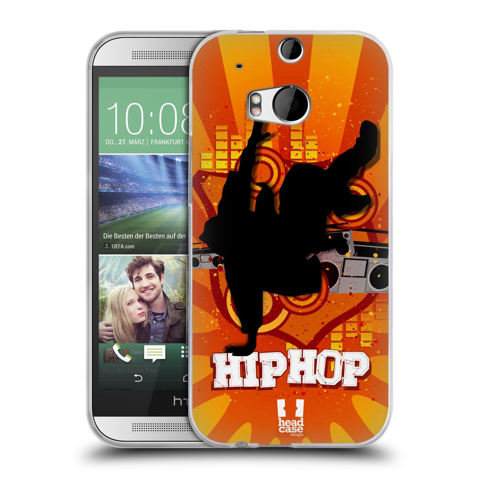 HEAD CASE silikonový obal na mobil HTC ONE (M8) vzor TANEC SILUETA HIP HOP
