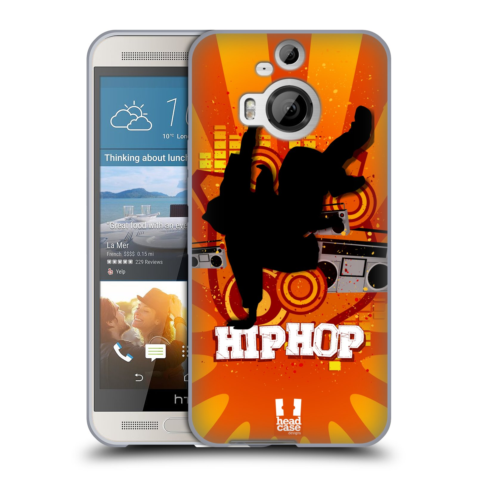 HEAD CASE silikonový obal na mobil HTC ONE M9+(PLUS) vzor TANEC SILUETA HIP HOP