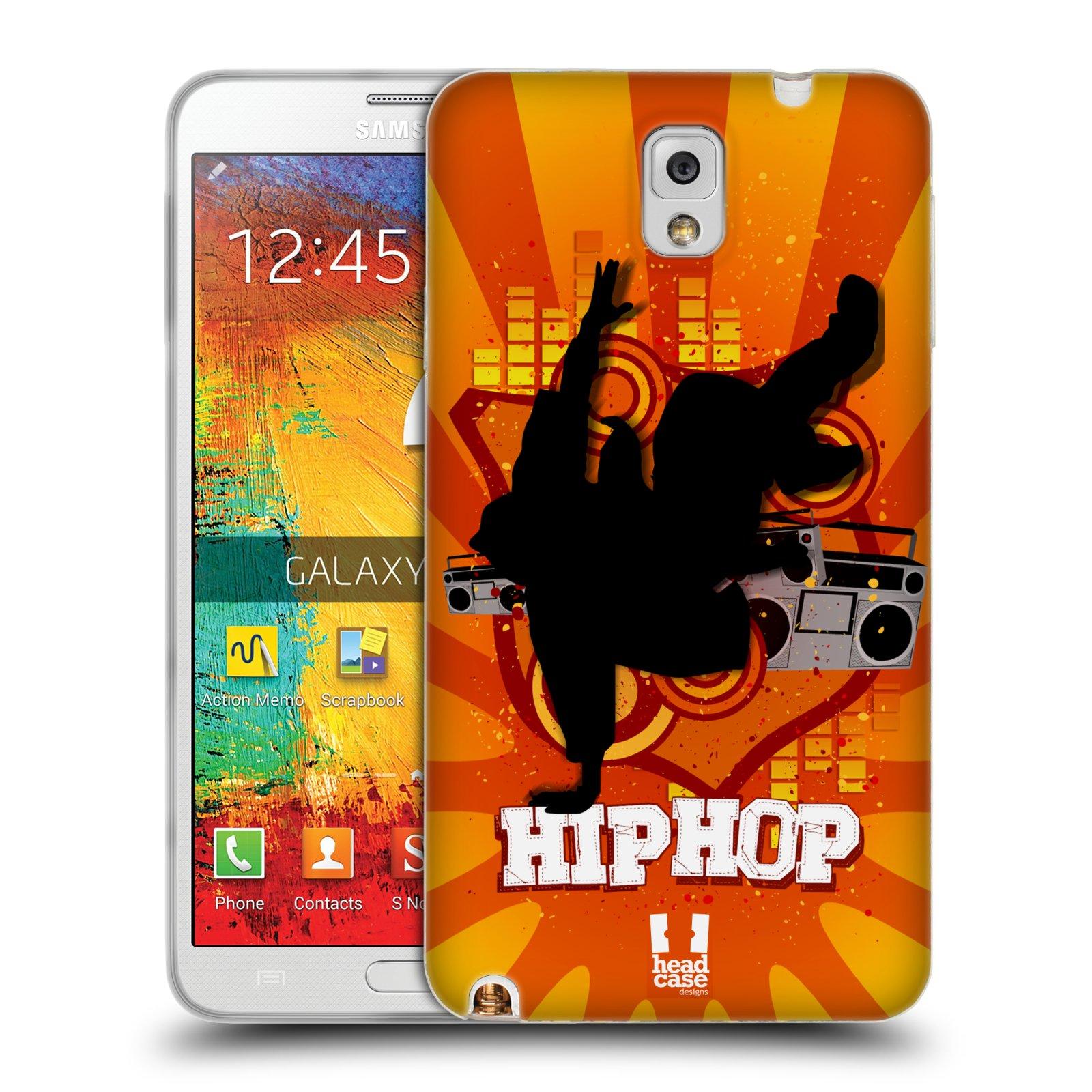 HEAD CASE silikonový obal na mobil Samsung Galaxy Note 3 (N9005) vzor TANEC SILUETA HIP HOP