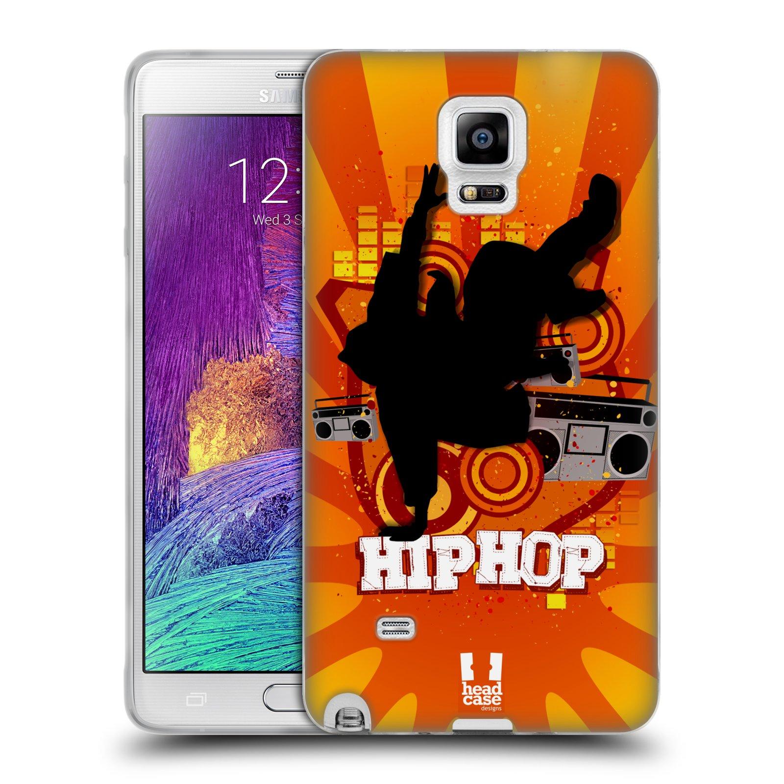HEAD CASE silikonový obal na mobil Samsung Galaxy Note 4 (N910) vzor TANEC SILUETA HIP HOP