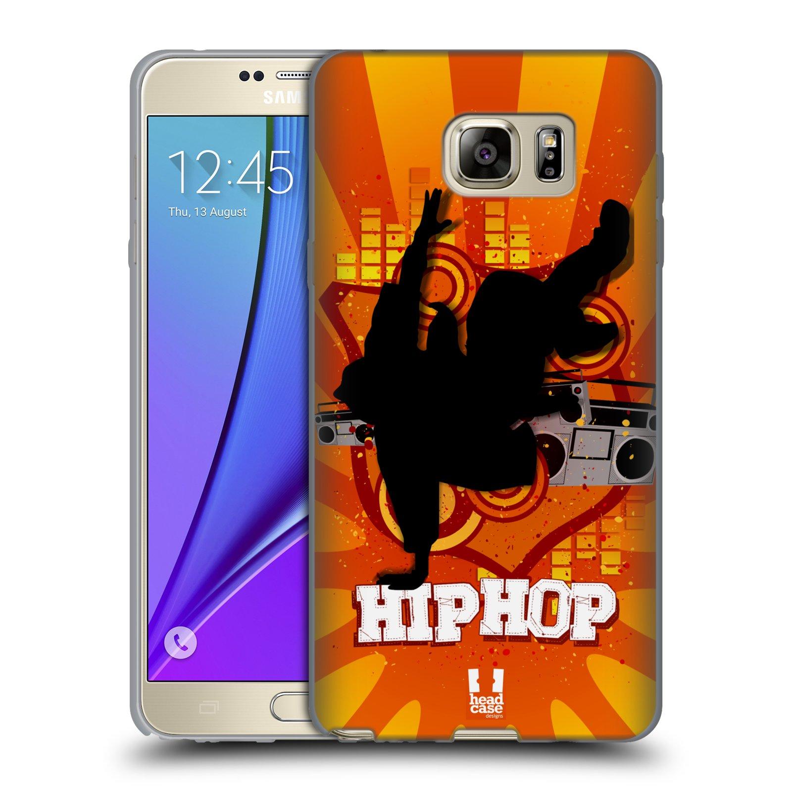 HEAD CASE silikonový obal na mobil Samsung Galaxy Note 5 (N920) vzor TANEC SILUETA HIP HOP