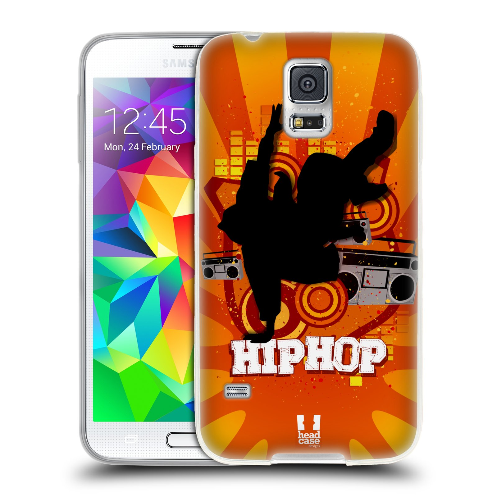 HEAD CASE silikonový obal na mobil Samsung Galaxy S5/S5 NEO vzor TANEC SILUETA HIP HOP