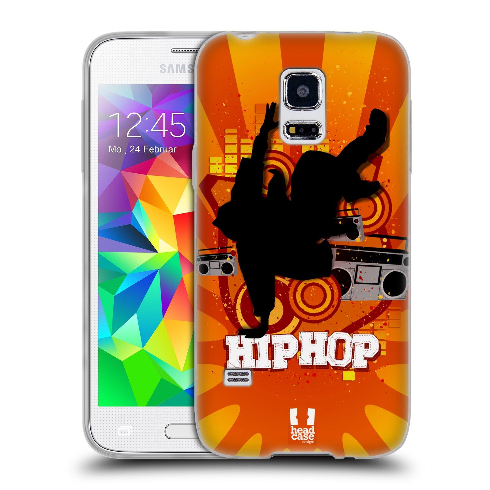 HEAD CASE silikonový obal na mobil Samsung Galaxy S5 MINI vzor TANEC SILUETA HIP HOP