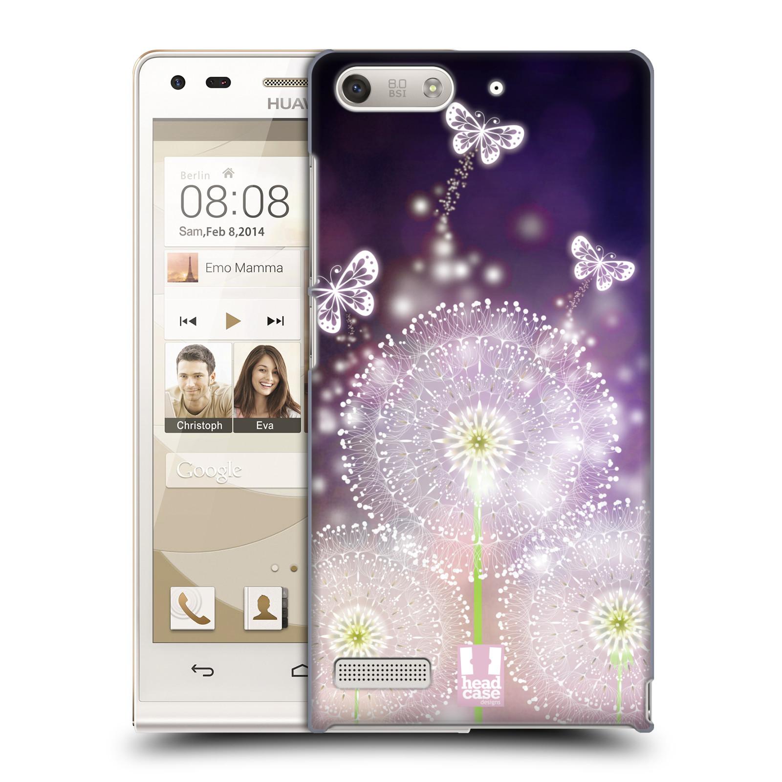 Plastové pouzdro na mobil Huawei Ascend G6 HEAD CASE Pampelišky a Motýlci (Kryt či obal na mobilní telefon Huawei Ascend G6 bez LTE)
