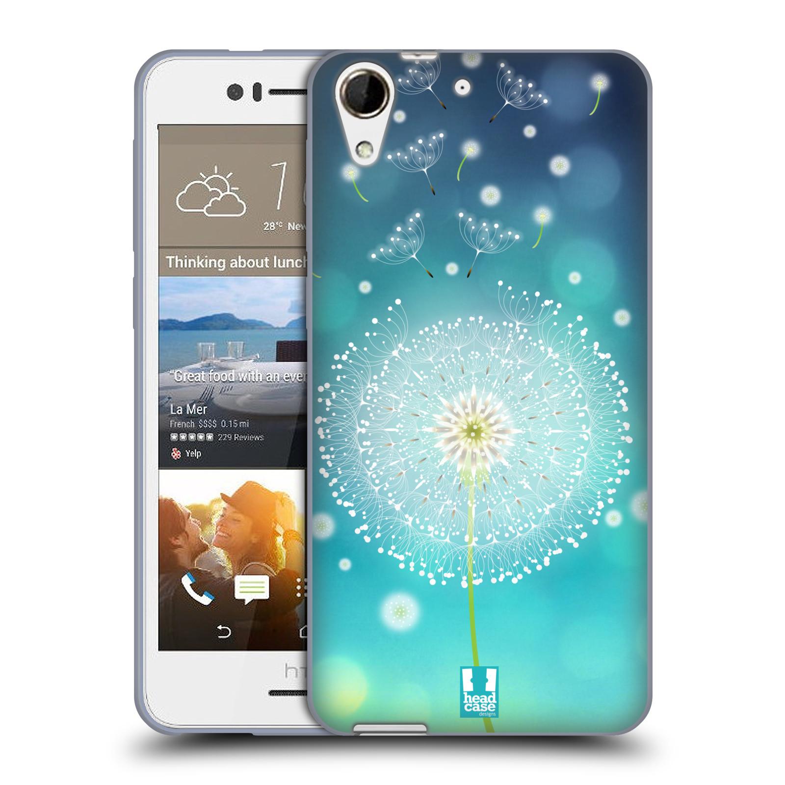 Silikonové pouzdro na mobil HTC Desire 728G Dual SIM HEAD CASE Rozlétaná pampeliška (Silikonový kryt či obal na mobilní telefon HTC Desire 728 G Dual SIM)