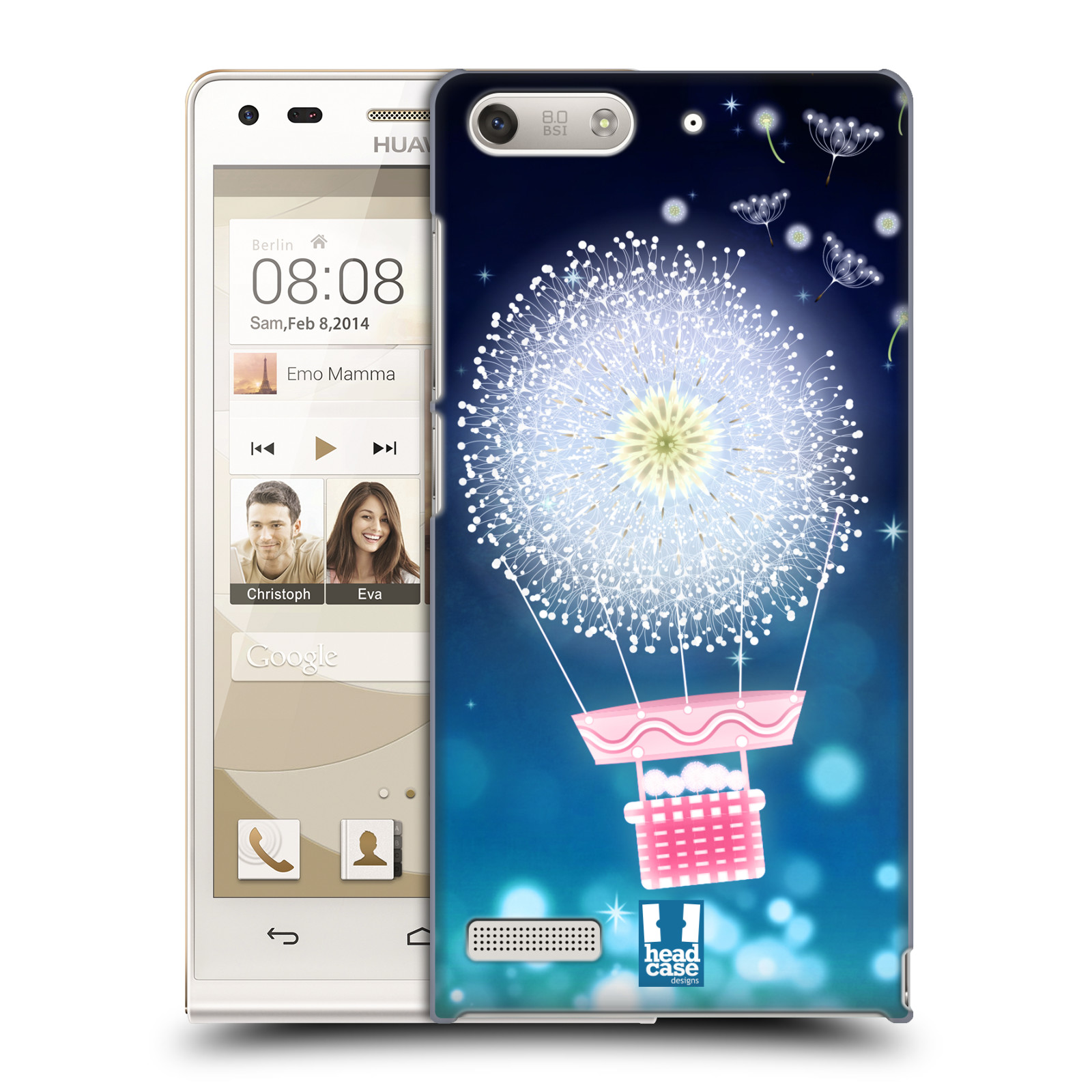 Plastové pouzdro na mobil Huawei Ascend G6 HEAD CASE Pampeliškový balón (Kryt či obal na mobilní telefon Huawei Ascend G6 bez LTE)