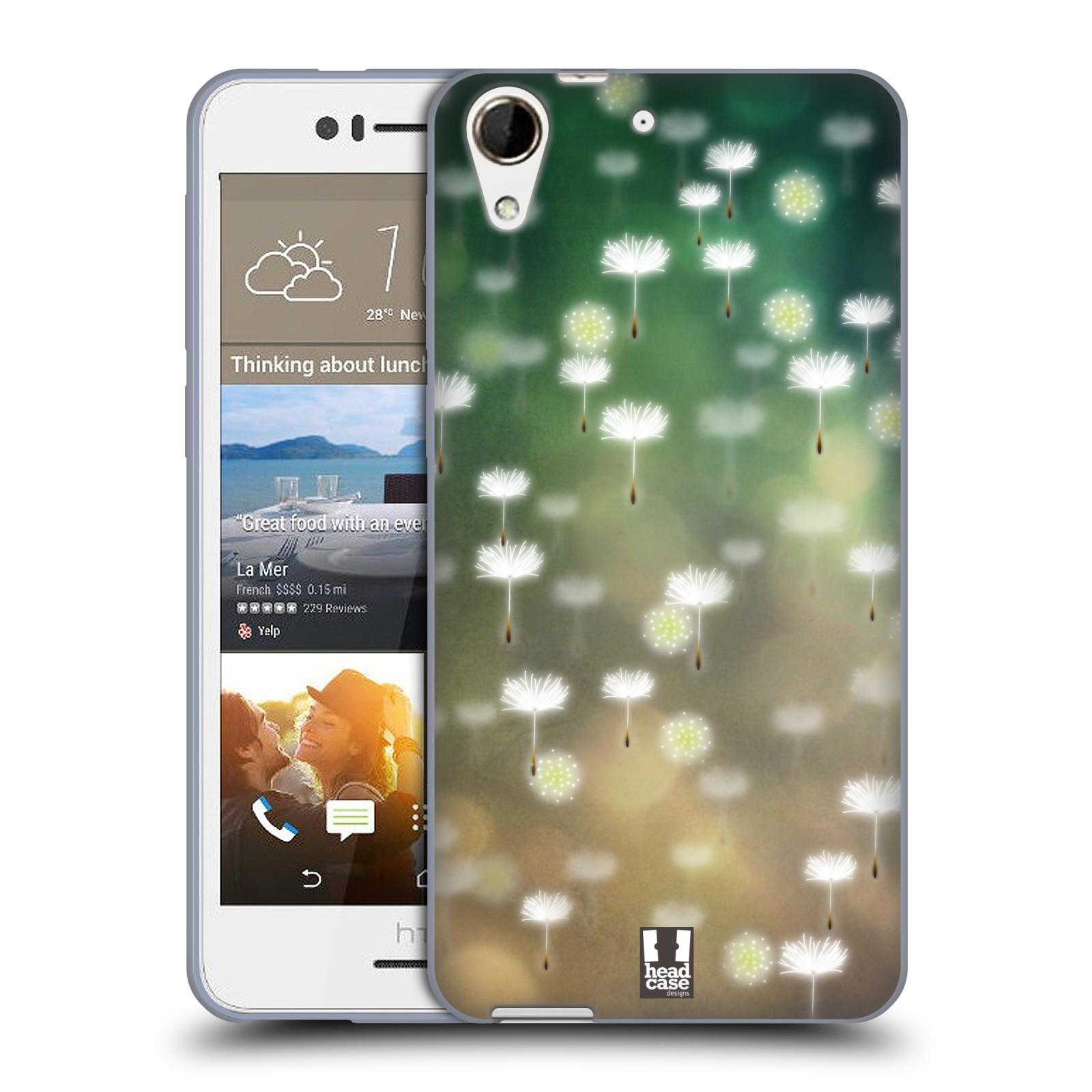 Silikonové pouzdro na mobil HTC Desire 728G Dual SIM HEAD CASE Pampeliškové padáčky (Silikonový kryt či obal na mobilní telefon HTC Desire 728 G Dual SIM)