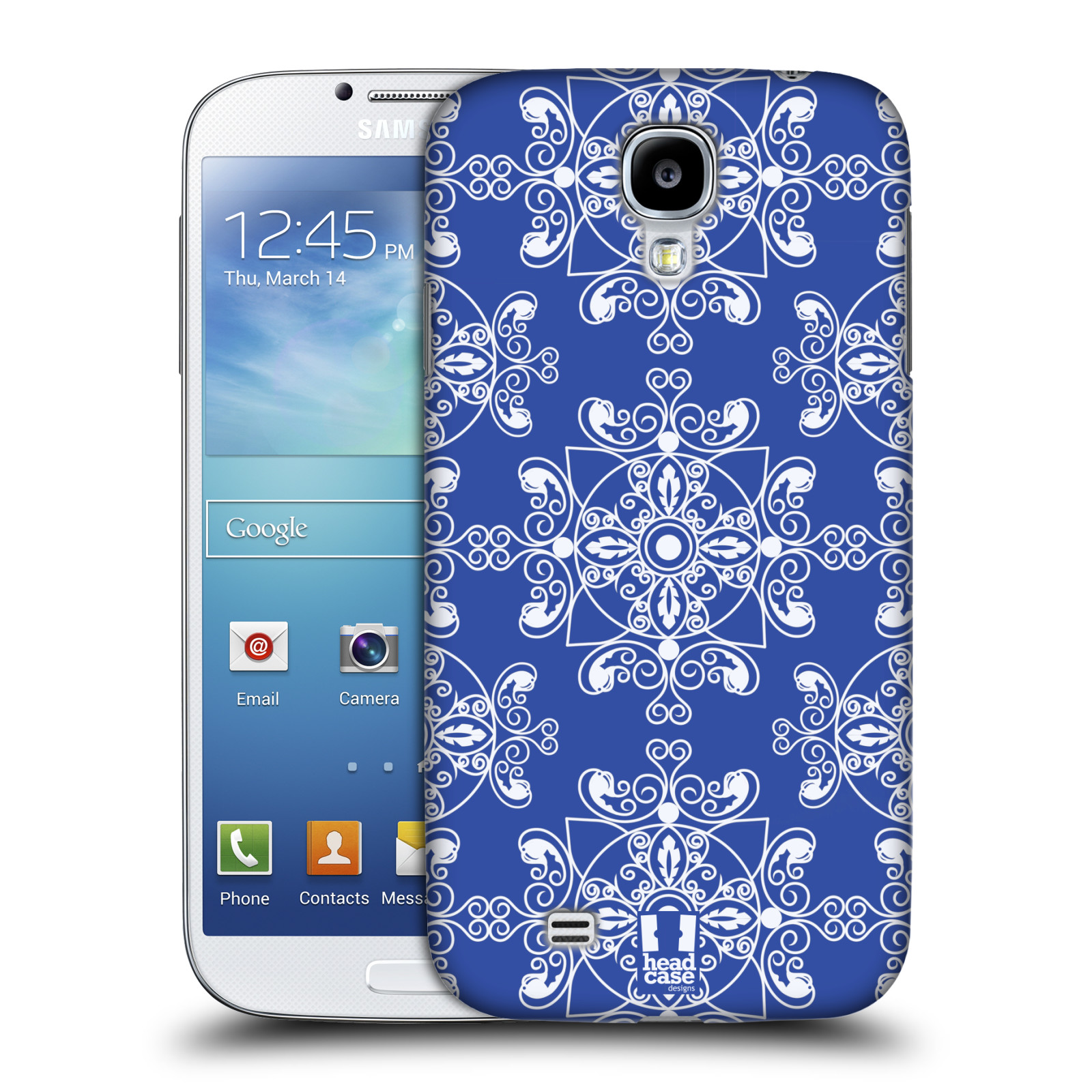 HEAD CASE DESIGNS DAZZLING BLUE PATTERN CASE COVER FOR SAMSUNG GALAXY S4 I9500