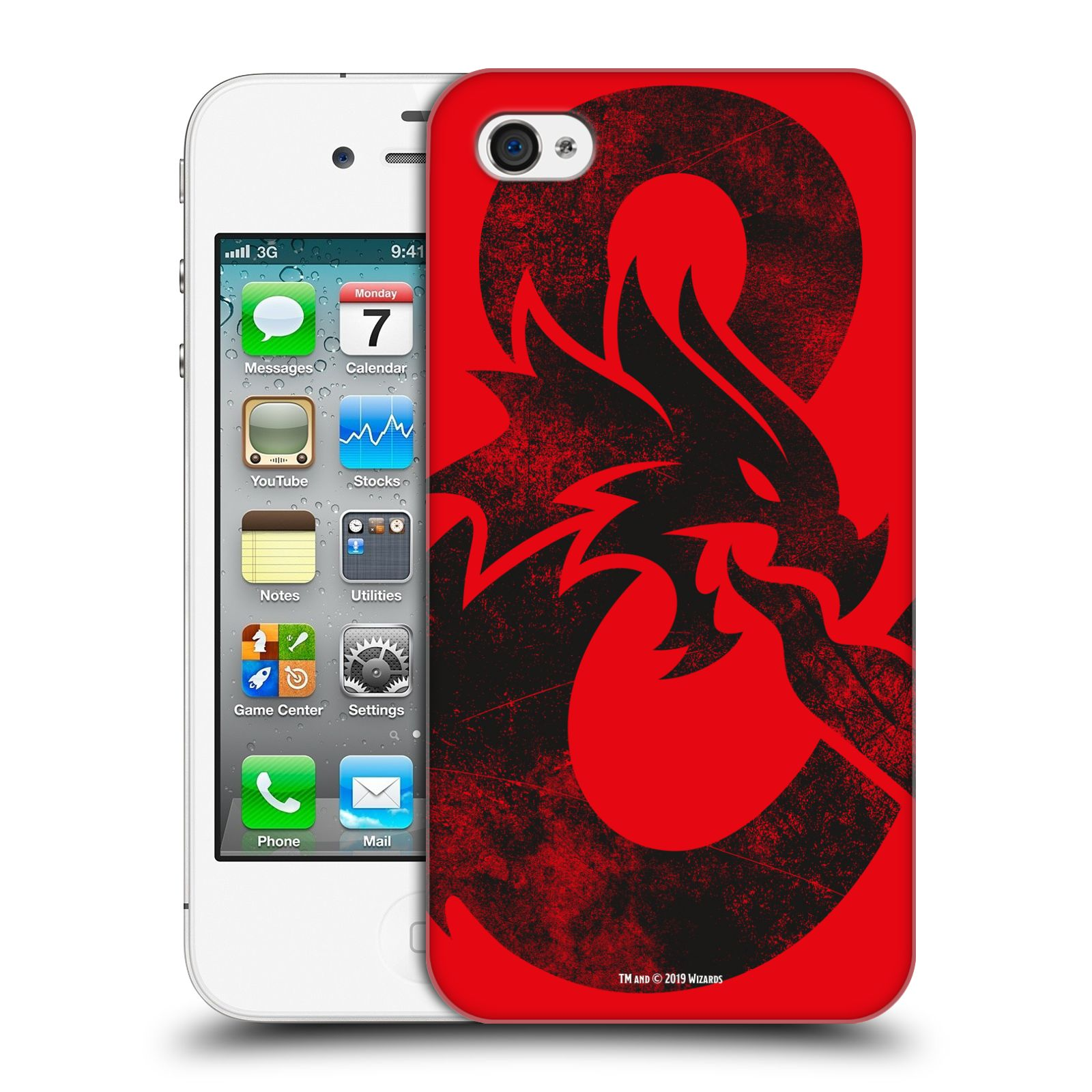 Pouzdro na mobil Apple Iphone 4/4S - HEAD CASE - Dungeons and Dragons - Chrlící drak