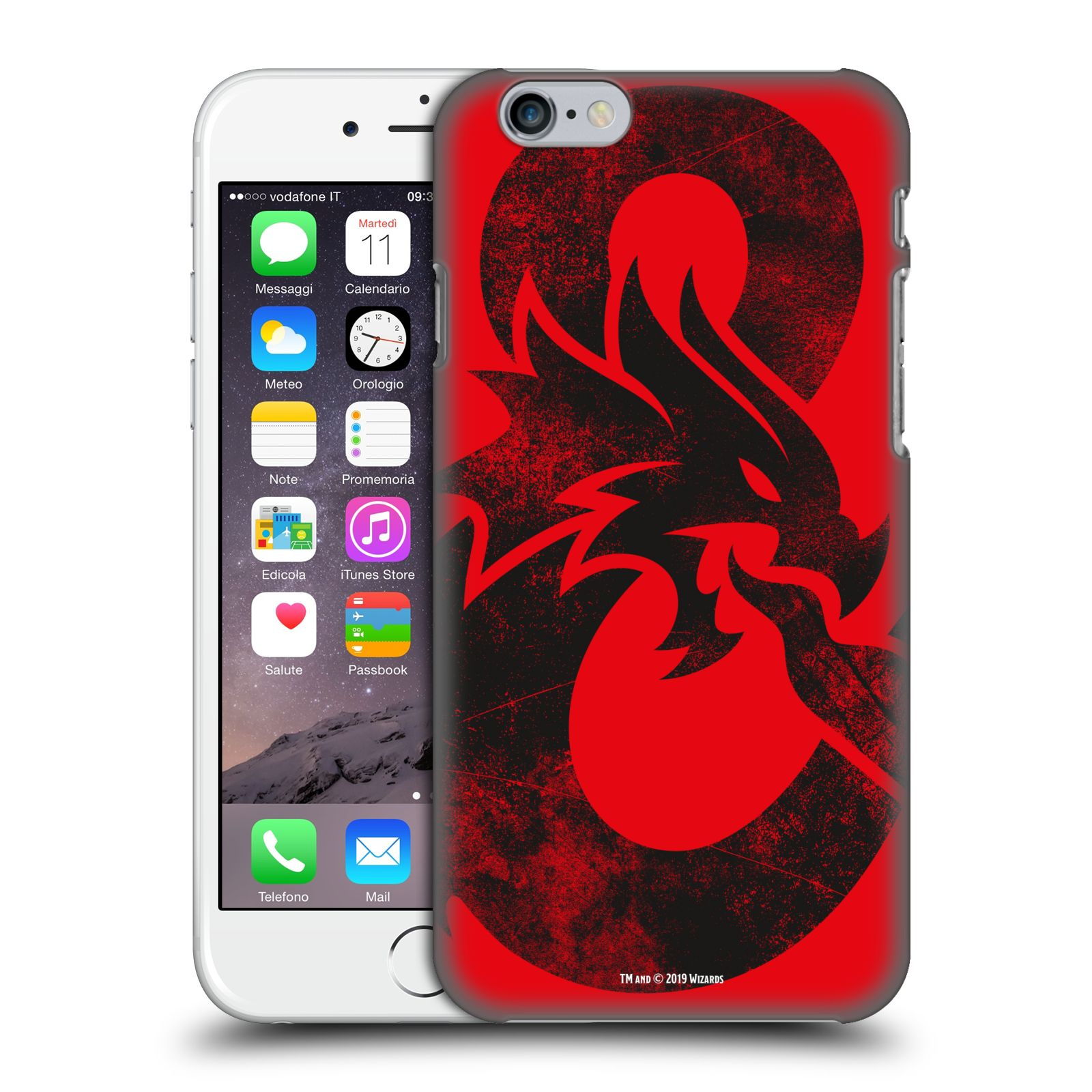 Pouzdro na mobil Apple Iphone 6/6S - HEAD CASE - Dungeons and Dragons - Chrlící drak
